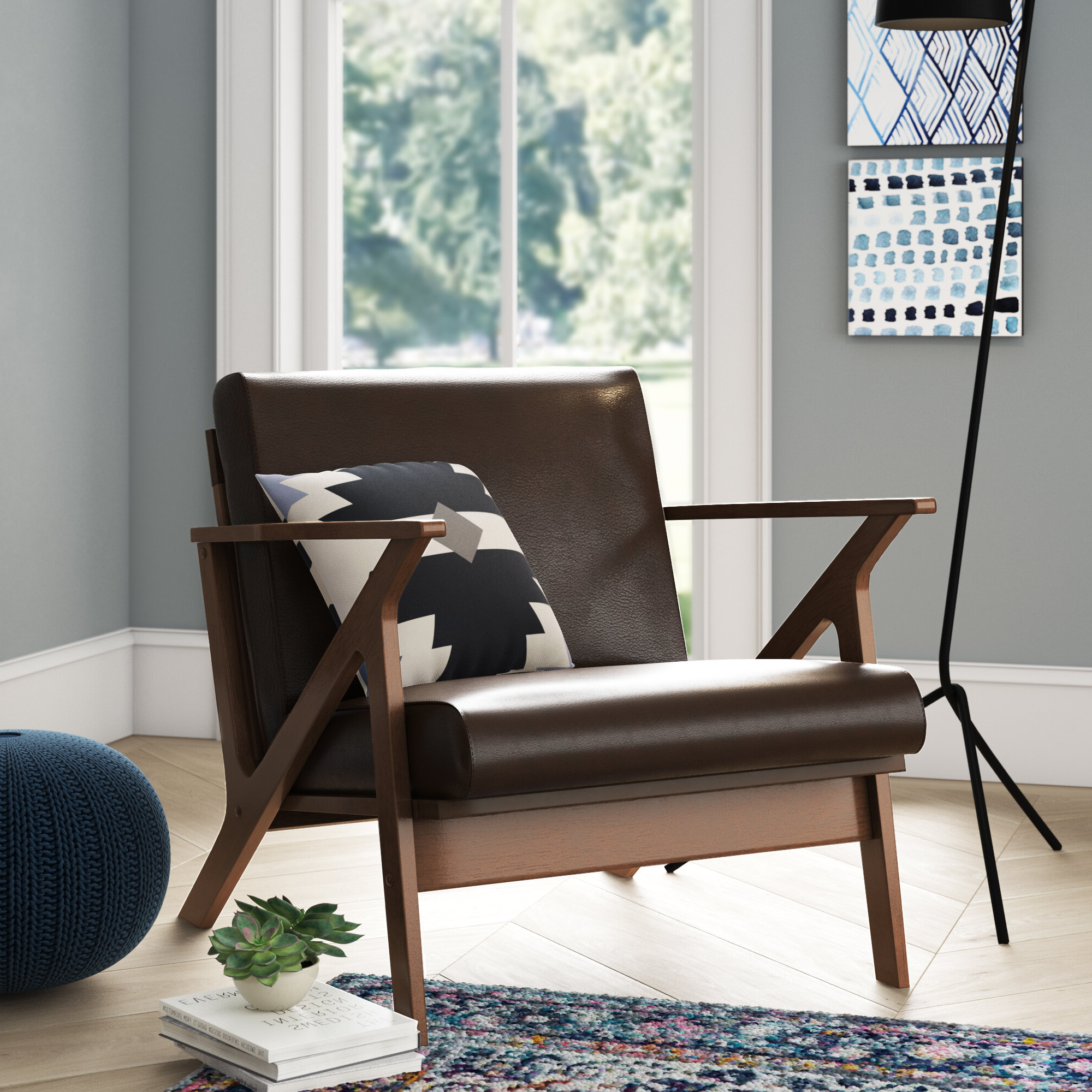 Newest Bethine Polyester Armchairs (set Of 2) With Arm Modern & Contemporary Accent Chairs You'll Love In (View 18 of 20)