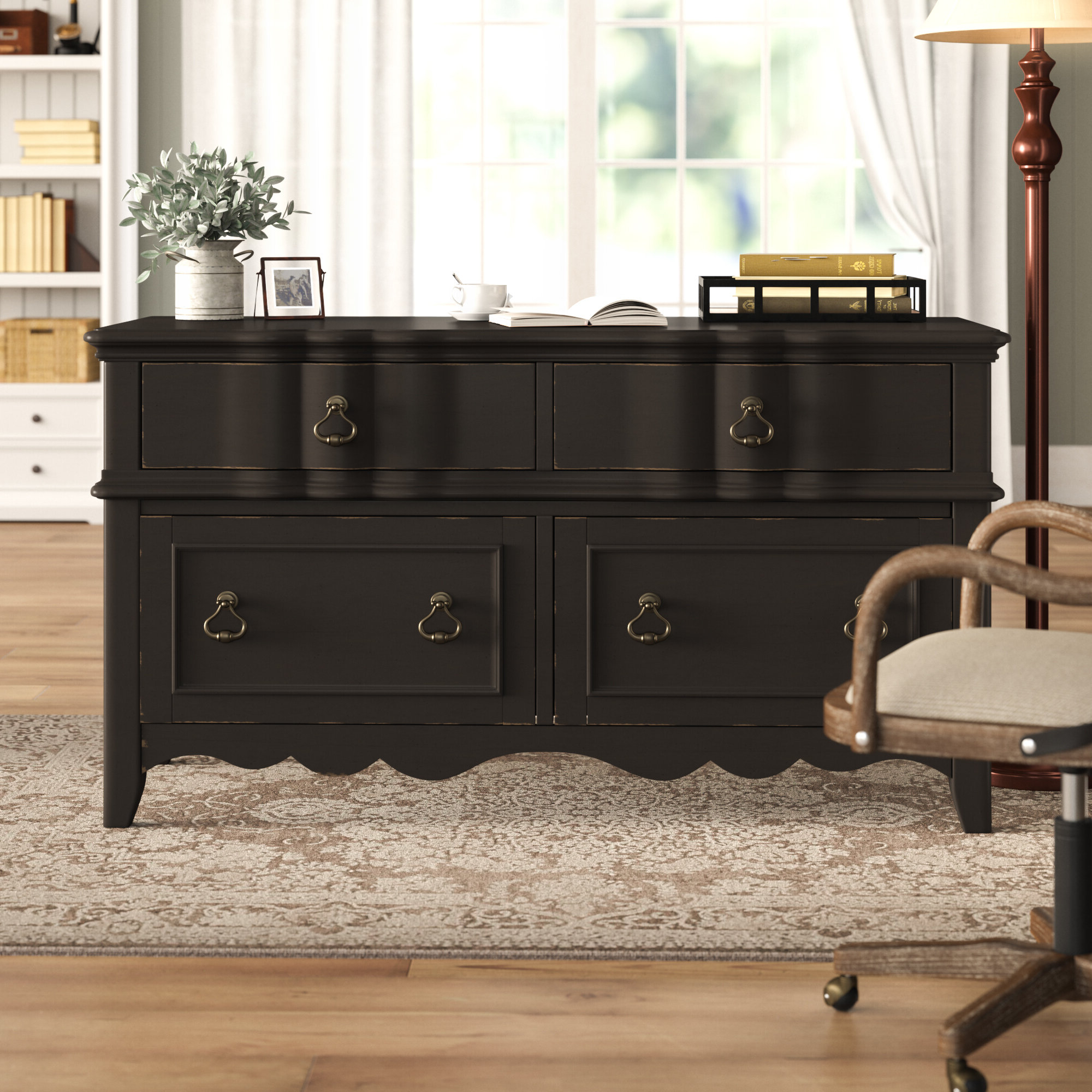 Newest Black Credenza Office Storage Cabinets You'll Love In 2021 Intended For Akimitsu Barrel Chair And Ottoman Sets (View 17 of 20)