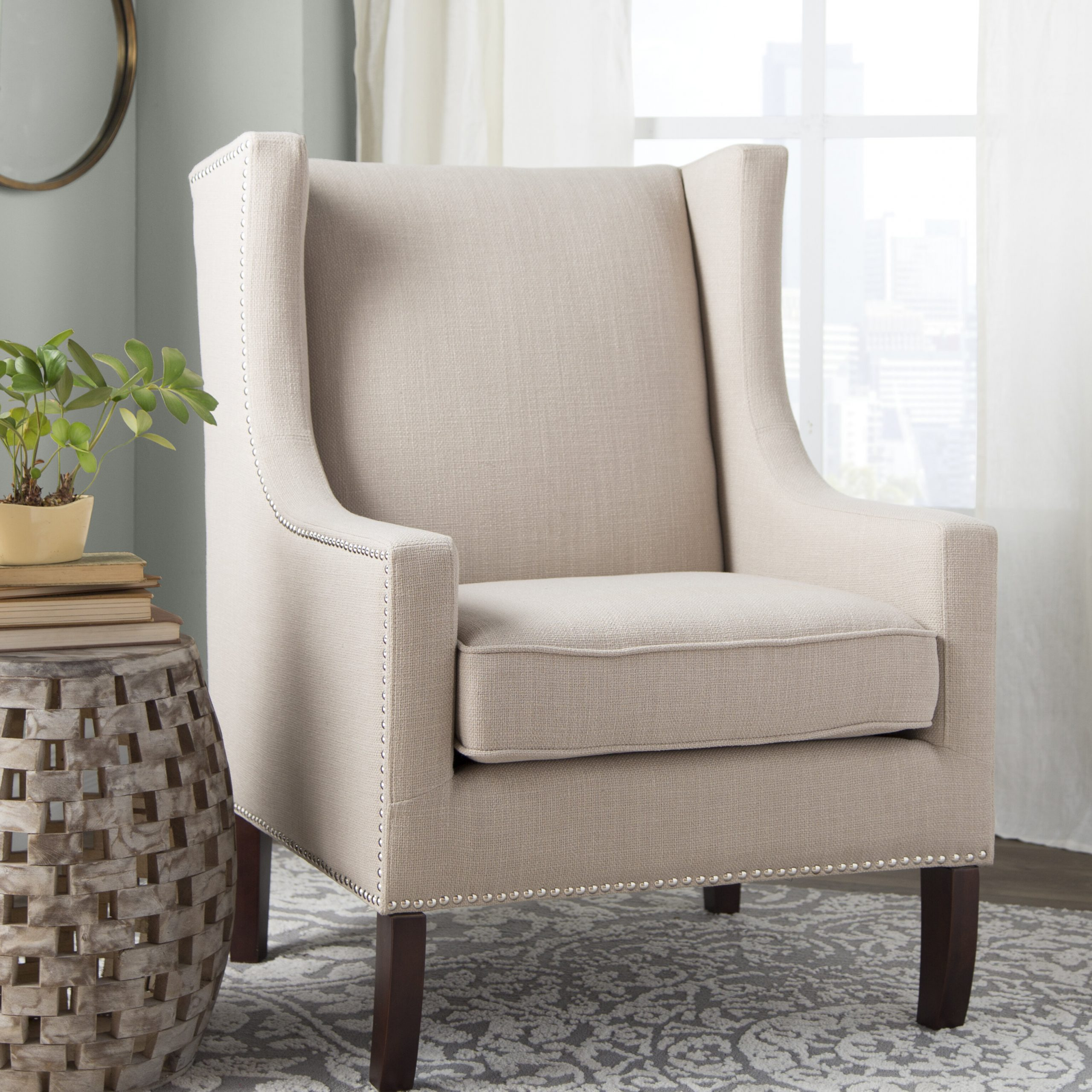 Newest Espresso Wood Ivory & Cream Accent Chairs You'll Love In Pertaining To Filton Barrel Chairs (View 15 of 20)