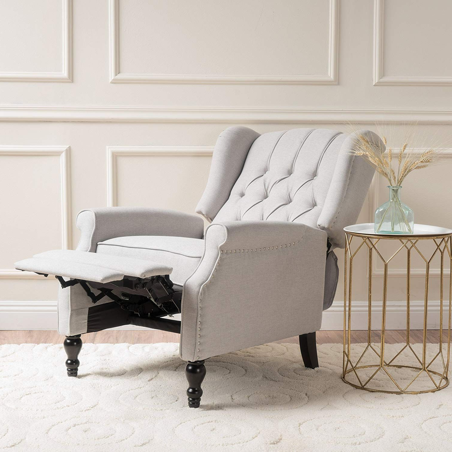 Newest Louisburg Armchairs In Christopher Knight Home 296110 Elizabeth Tufted Fabric Arm (View 18 of 20)