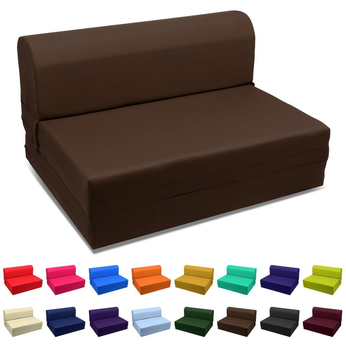 Newest Magshion Futon Furniture Sleeper Chair Folding Foam Bed Pertaining To Onderdonk Faux Leather Convertible Chairs (View 8 of 20)