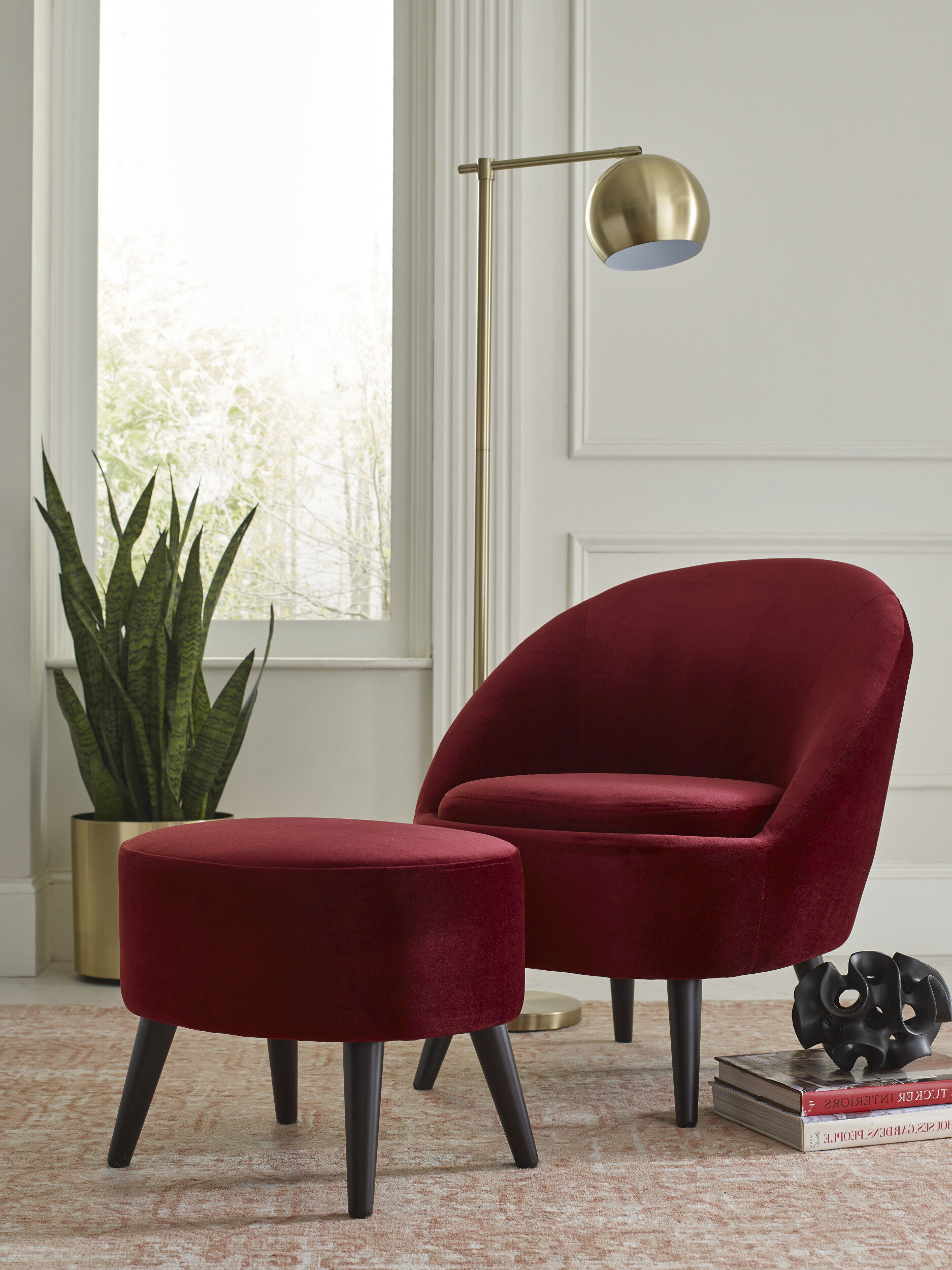 Nico Armchair And Ottoman Within Preferred Briseno Barrel Chairs (View 14 of 20)