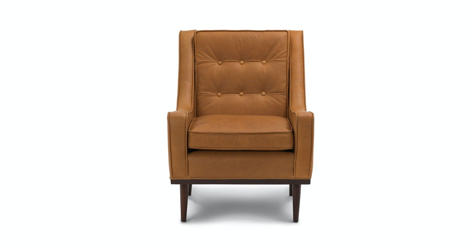 Nina Charme Tan Armchair In (View 9 of 20)