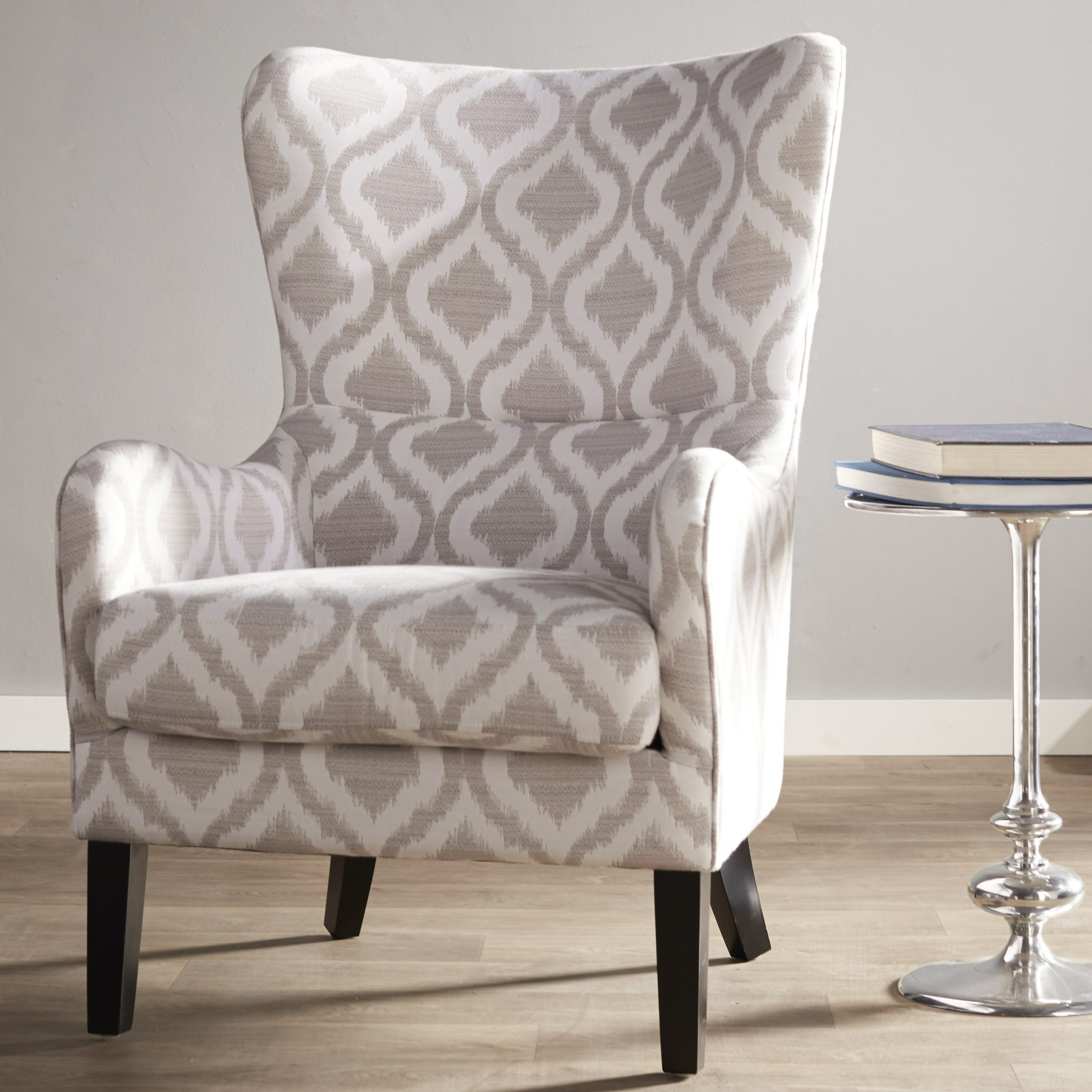 Oday Wingback Chair With Most Recently Released Allis Tufted Polyester Blend Wingback Chairs (View 8 of 20)