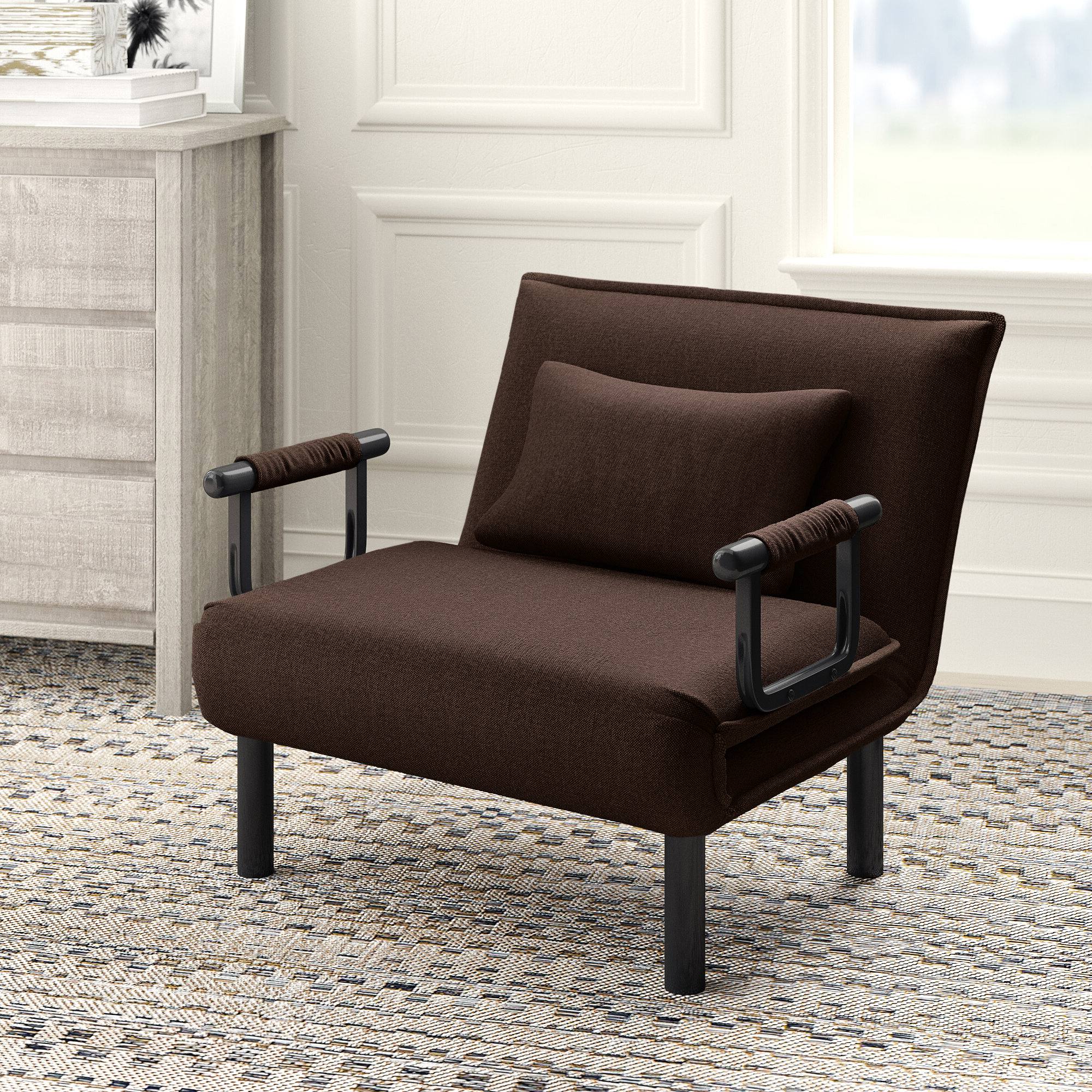 Onderdonk Faux Leather Convertible Chairs Pertaining To 2019 Springdale Convertible Chair (View 12 of 20)