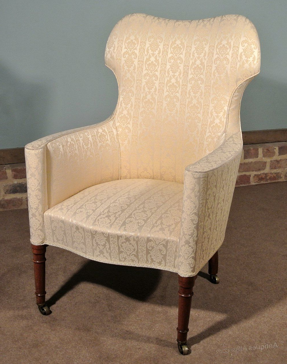 Original English Regency Barrel Back Chair C (View 12 of 20)