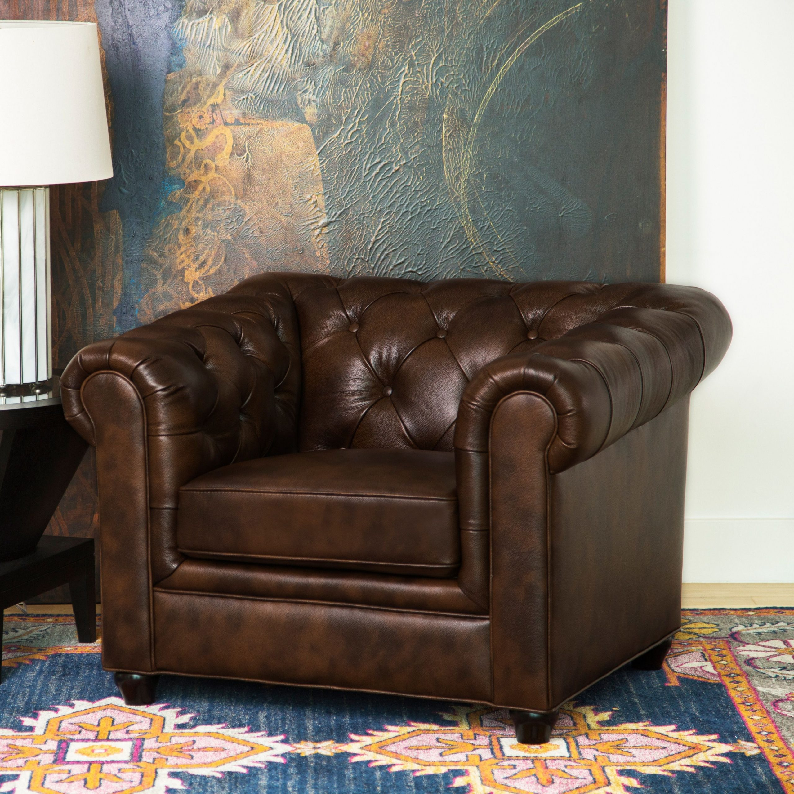 Overstock: Online Shopping – Bedding, Furniture Within 2020 Sheldon Tufted Top Grain Leather Club Chairs (View 13 of 20)