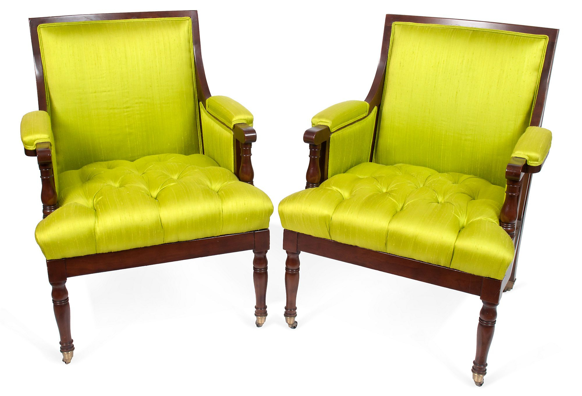 Pair Of Mahogany Baker Furniture Armchairs With Bright With Regard To Most Current Leppert Armchairs (View 20 of 20)