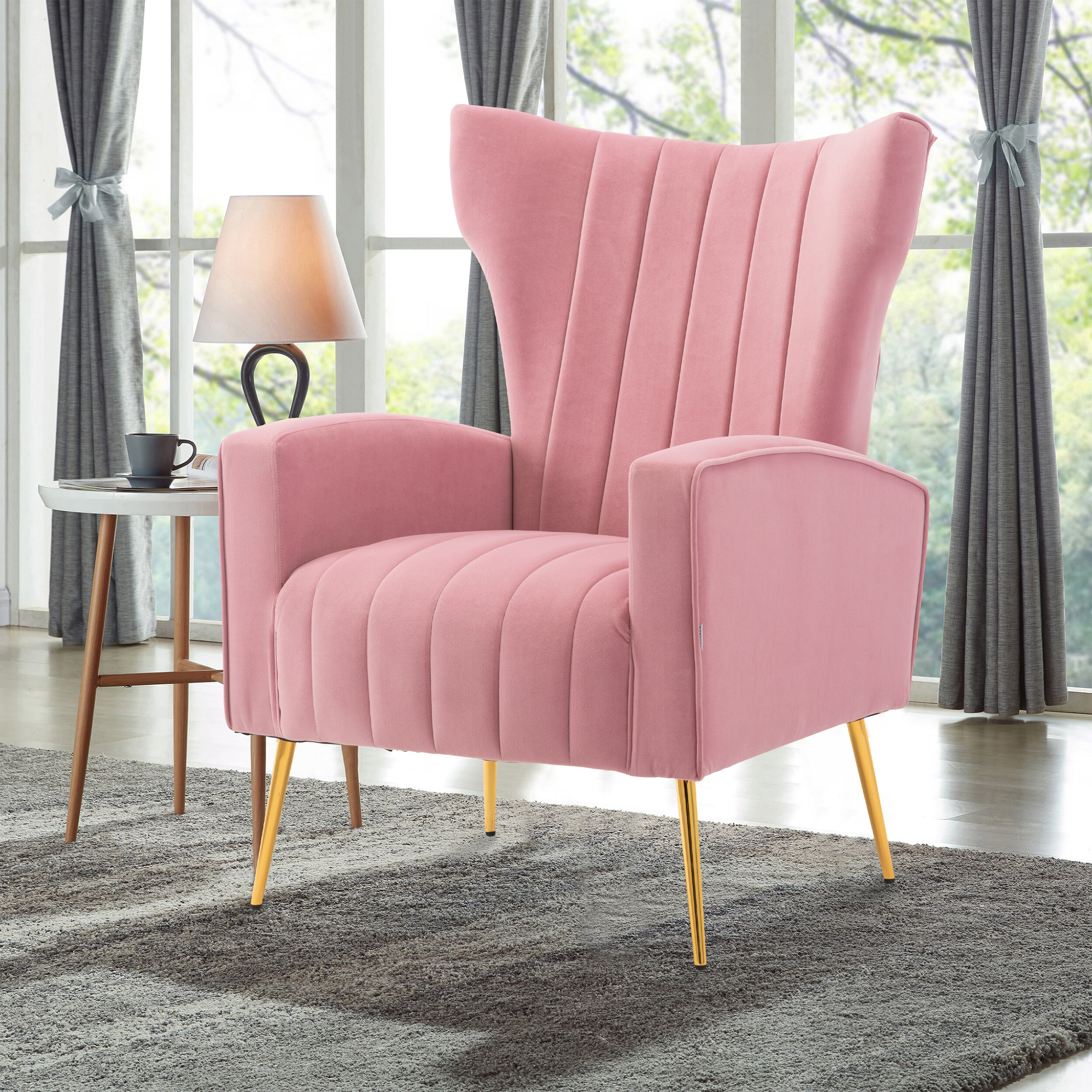 Perla Wingback Chair Intended For Popular Nestor Wingback Chairs (View 5 of 20)