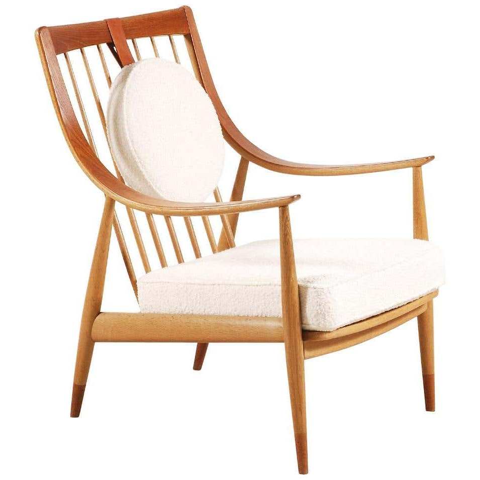 Peter Hvidt And Orla Mølgaard Nielsen Fd144 Easy Chair Pertaining To Well Known Liston Faux Leather Barrel Chairs (View 12 of 20)