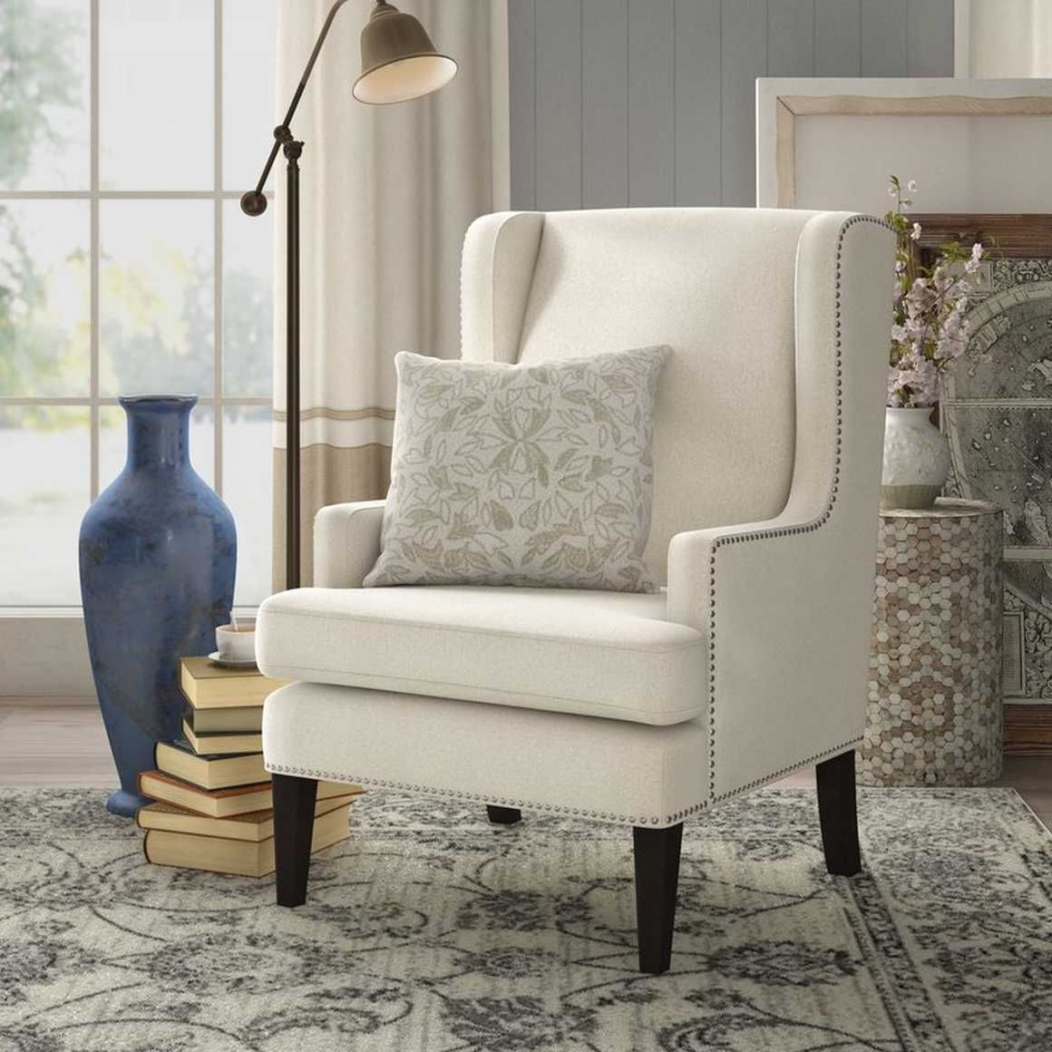 Pin Em Canto De Leitura With Latest Lenaghan Wingback Chairs (View 3 of 20)