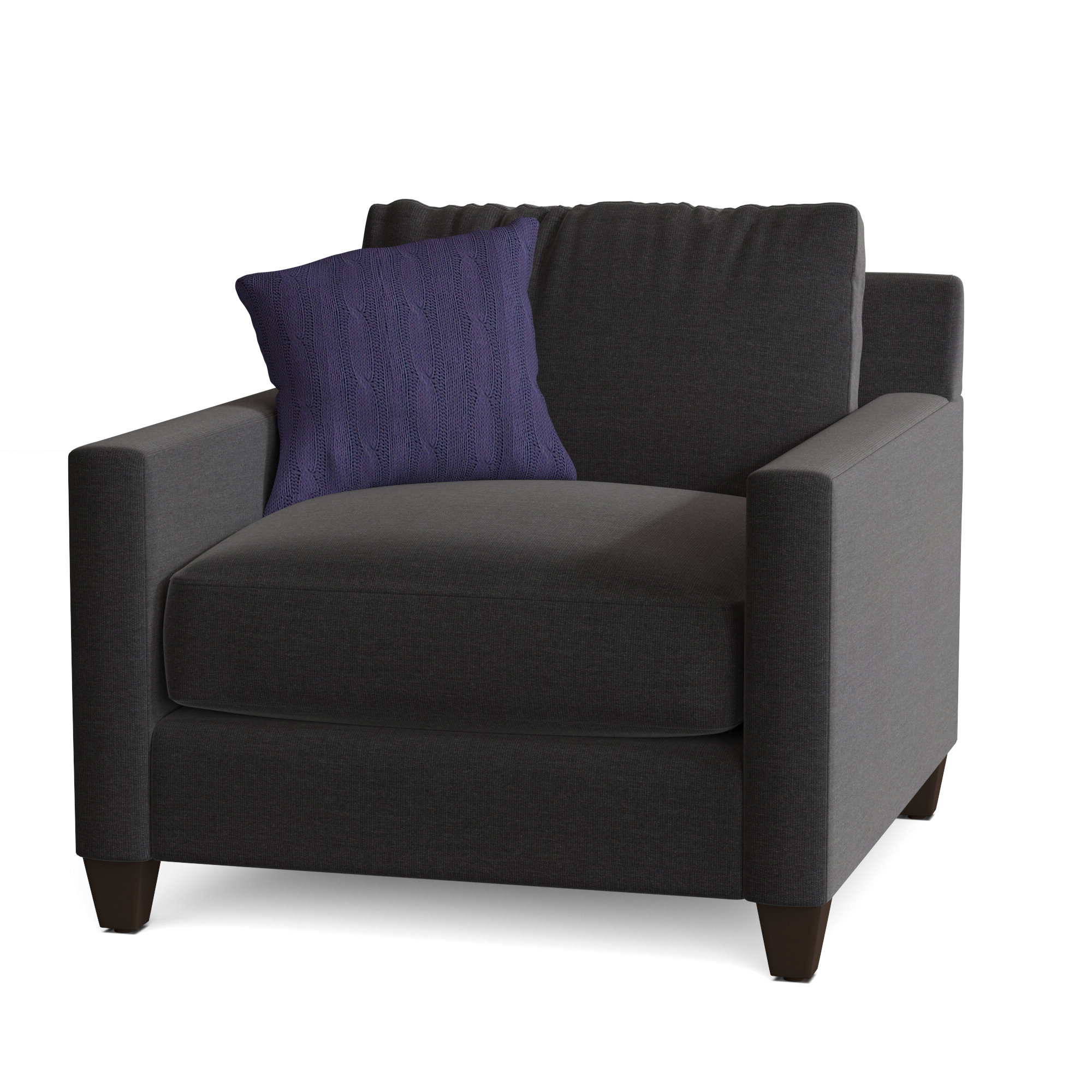 "Polyester Blend Armchairs For Most Up To Date Kerry 38"" W Polyester Blend Down Cushion Armchair (View 7 of 20)"