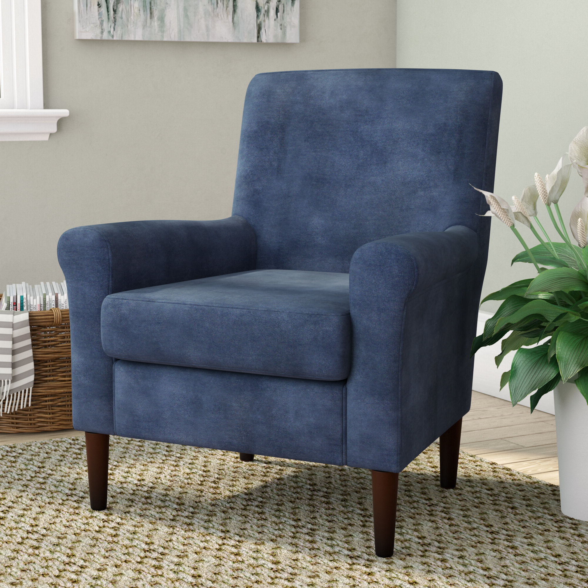 "Polyester Blend Armchairs Intended For Trendy Andover Mills™ Ronald 28"" W Polyester Blend Armchair (View 12 of 20)"