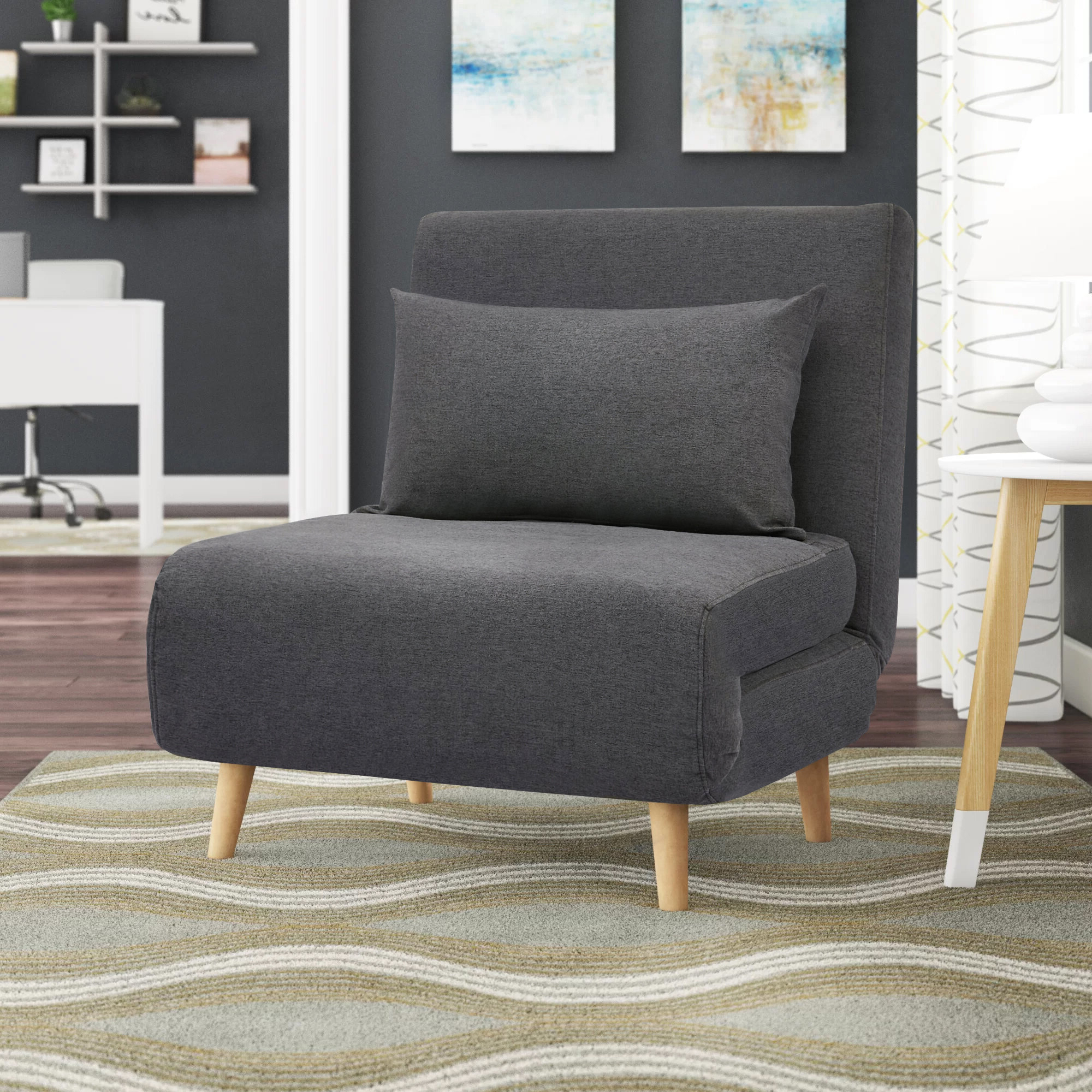 Polyester & Polyester Blend Accent Chairs You'll Love In Regarding Most Up To Date Suki Armchairs By Canora Grey (View 3 of 20)