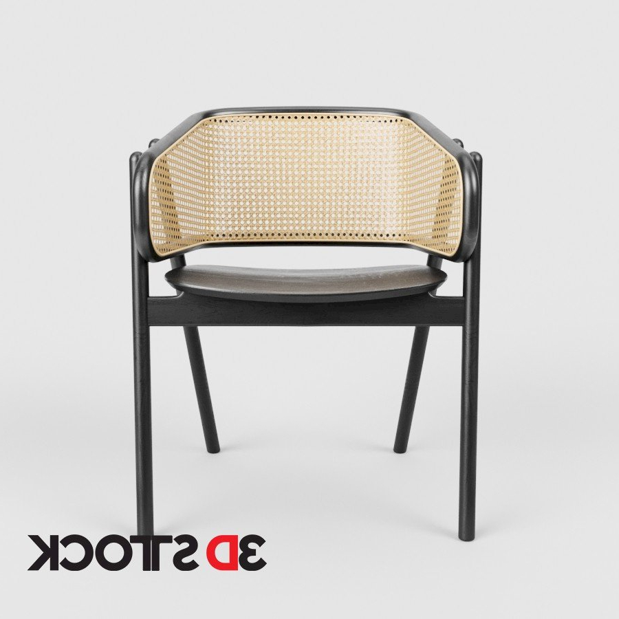 Popel Armchairs In Preferred Cane Armchair – 3d Stock : 3d Models For Professionals (View 18 of 20)