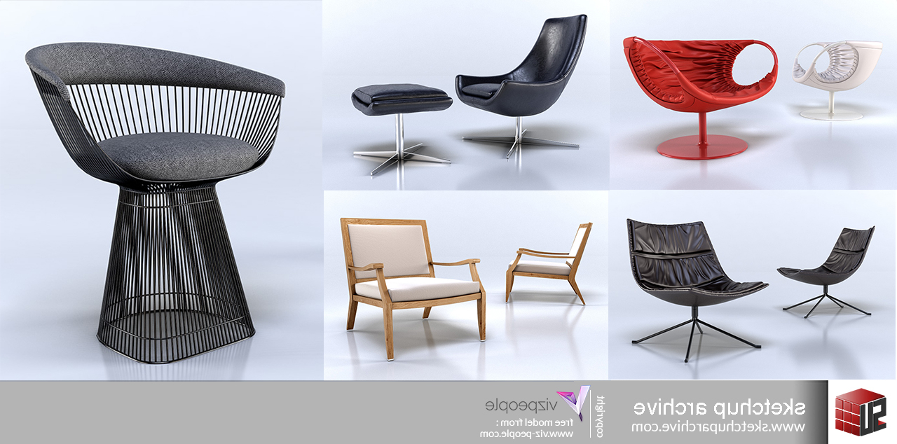Popel Armchairs With Regard To Popular Viz People Armchairs 1 – Sketchup Archive (View 7 of 20)