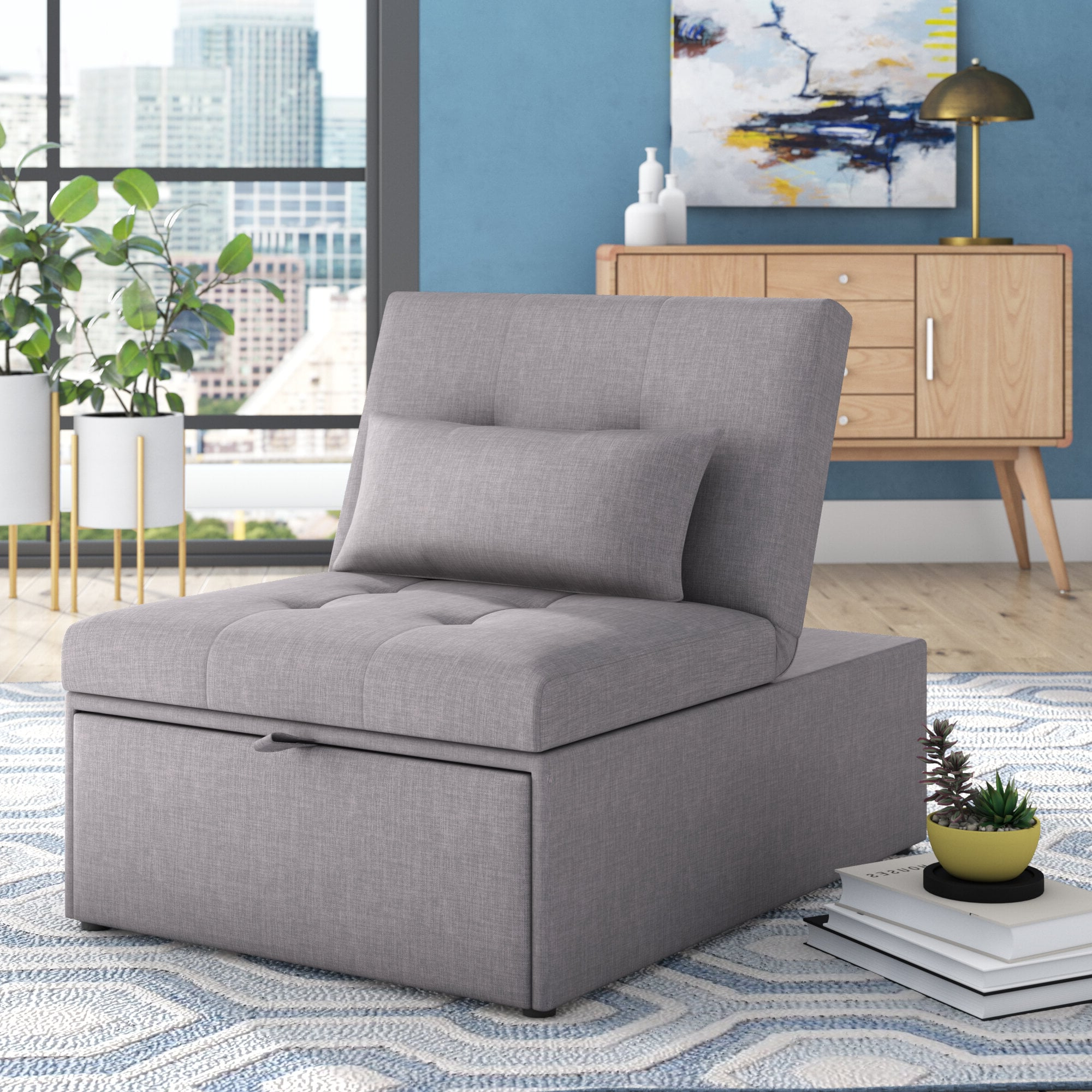 Popsugar Home Regarding Most Recently Released Bolen Convertible Chairs (View 8 of 20)