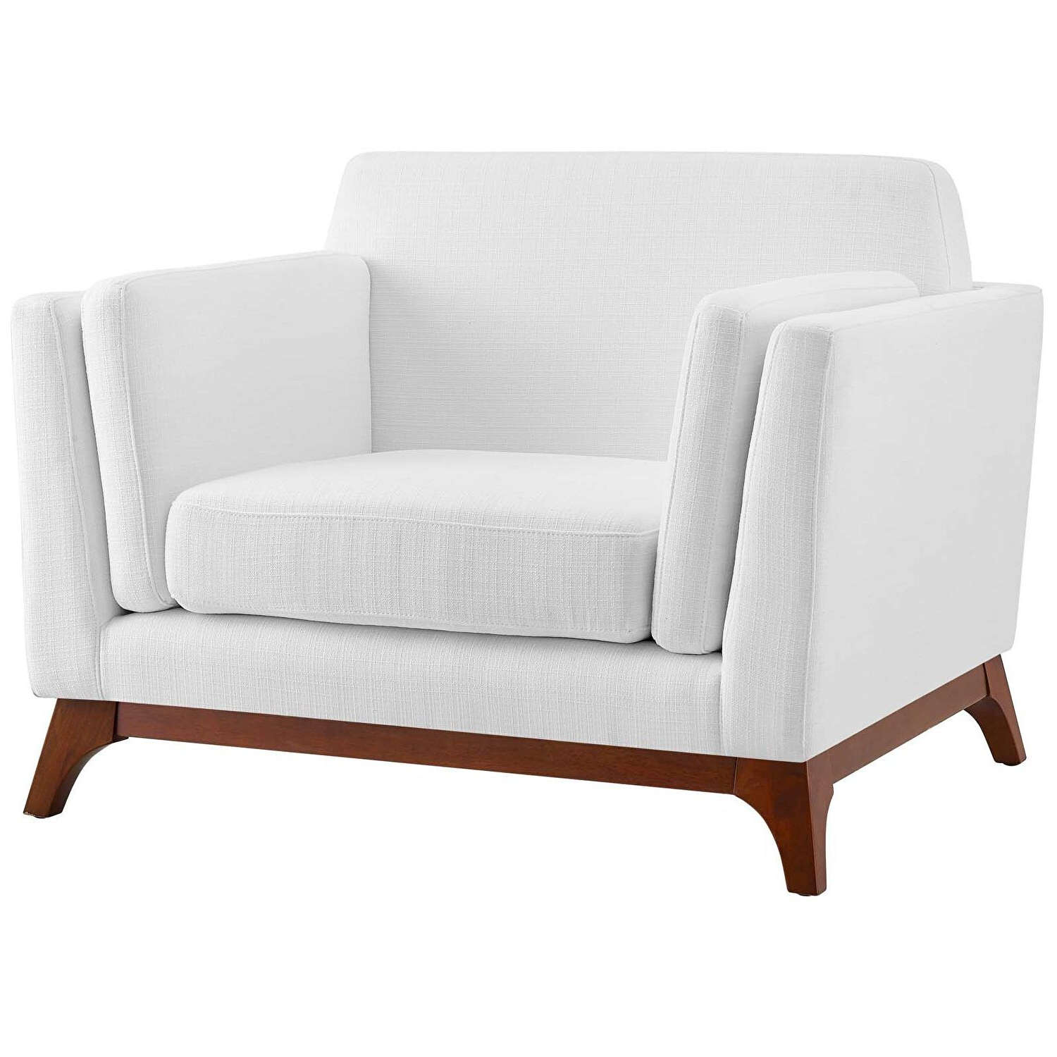 Popular Belz Tufted Polyester Armchairs Within Chance White Chair Eei 3063 Whi Modway Furniture Chairs In (View 15 of 20)