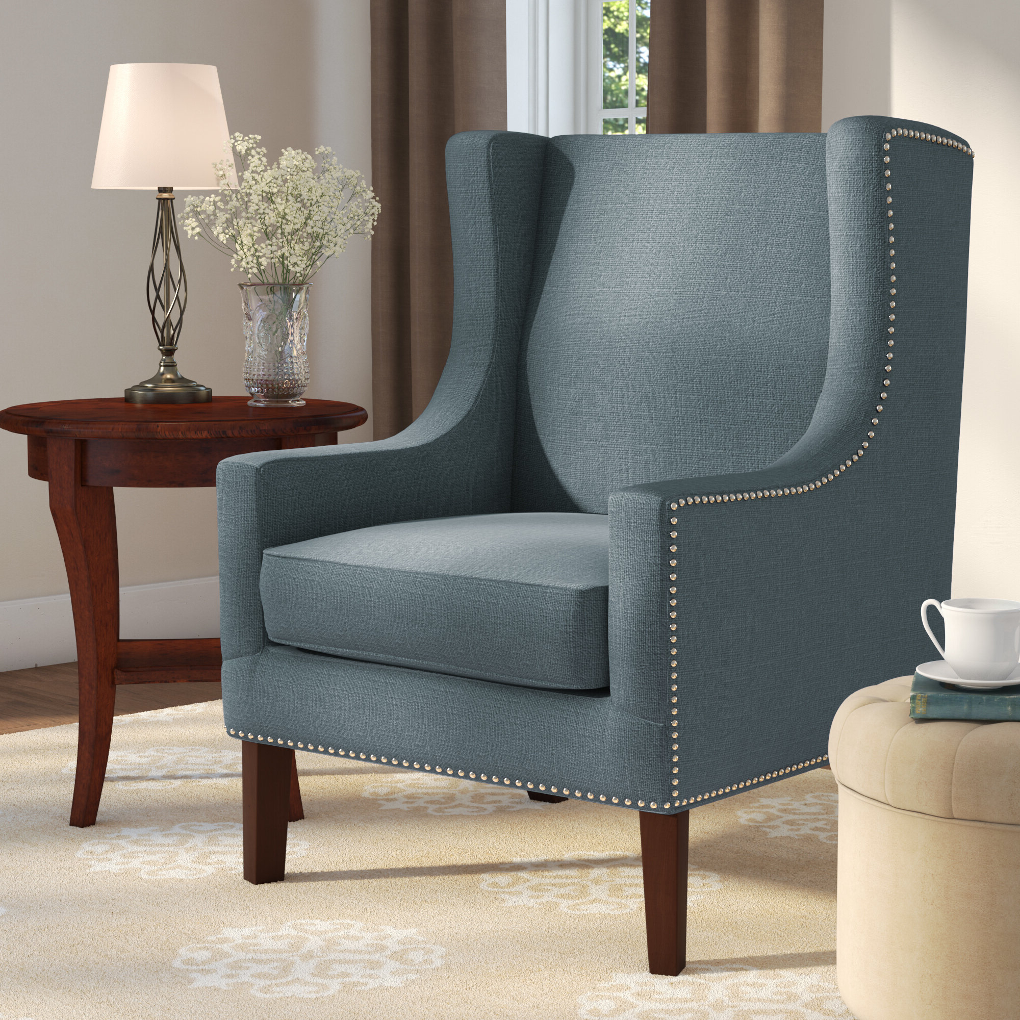 Popular Blue Wingback Accent Chairs You'll Love In (View 9 of 20)