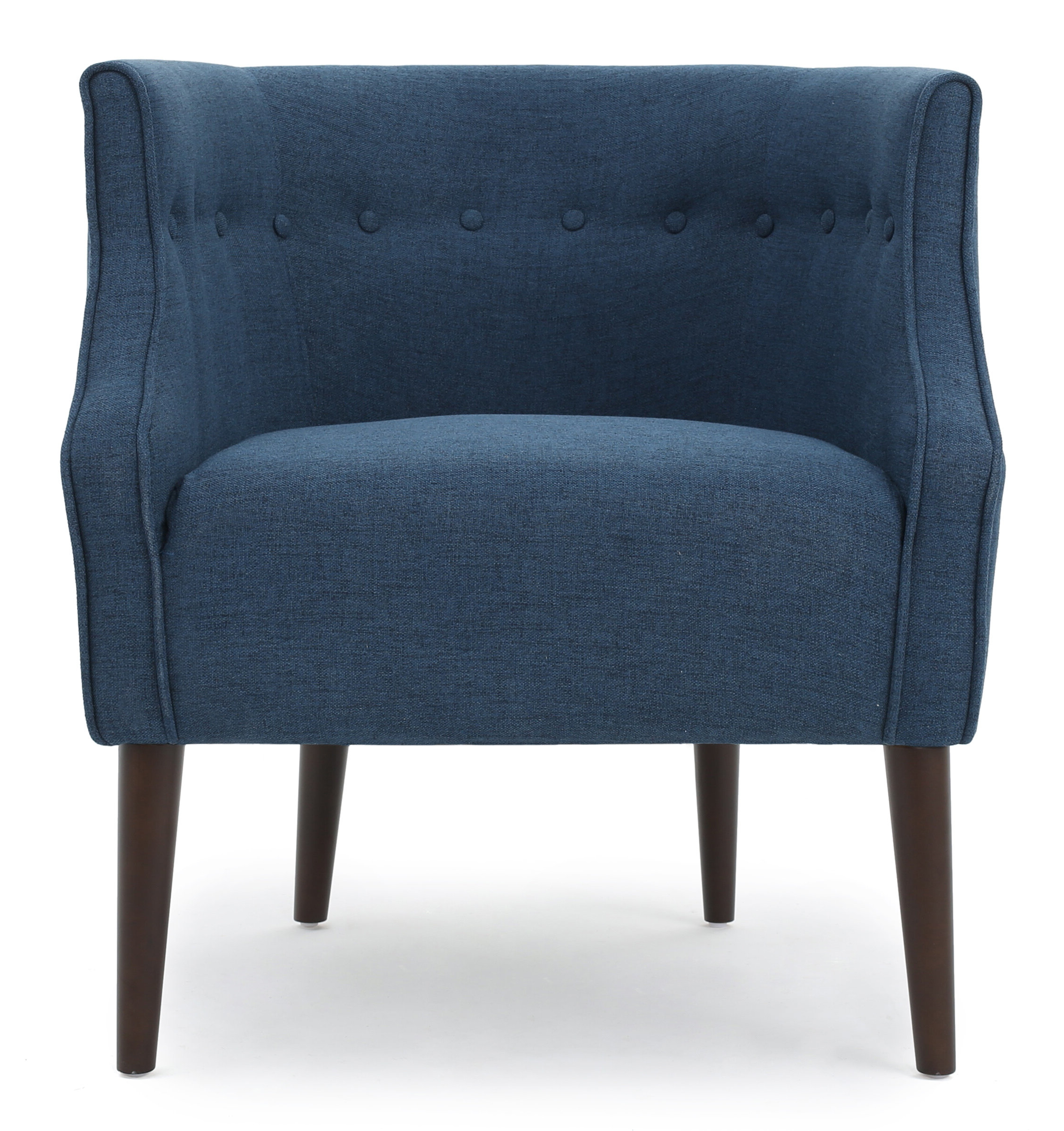 Popular Claudel Polyester Blend Barrel Chairs With Barrel Mid Century Modern Accent Chairs You'll Love In (View 5 of 20)