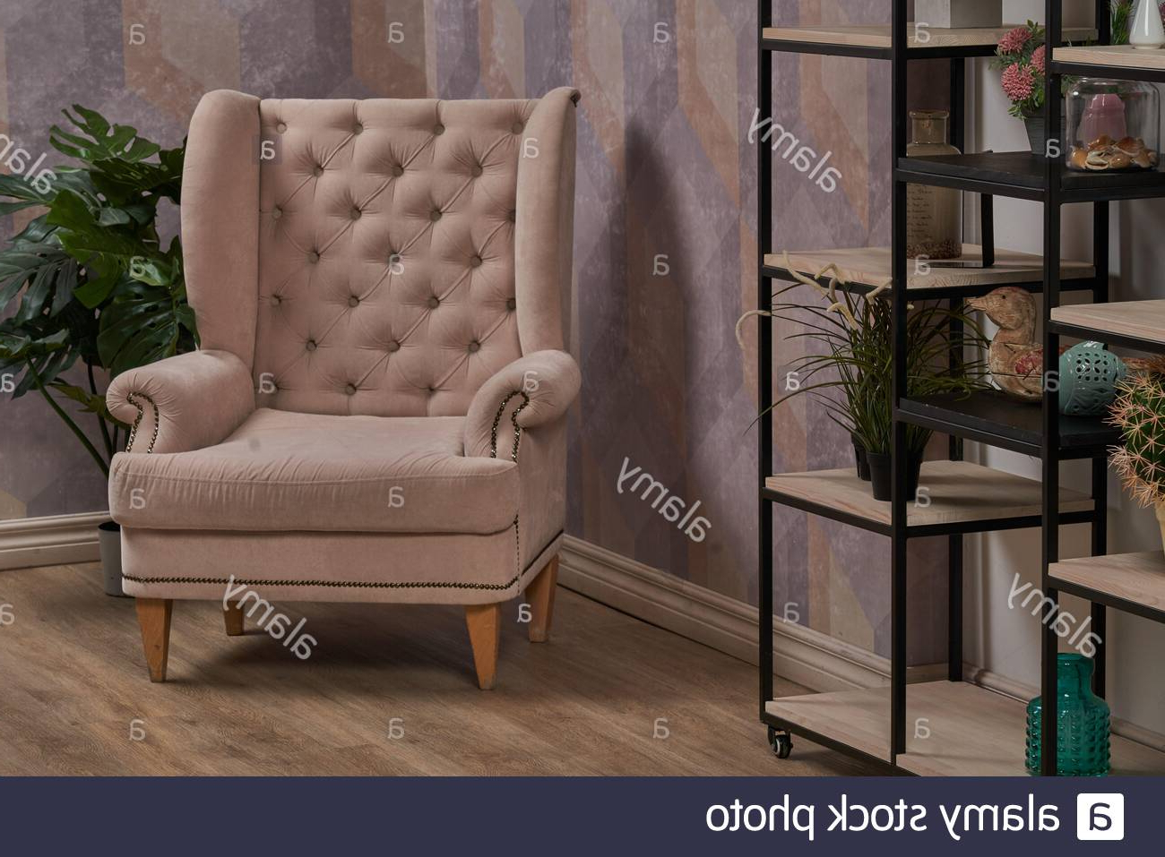 Popular Comfortable Arm Chair In Interior Living Room With Pastel Intended For Live It Cozy Armchairs (View 16 of 20)