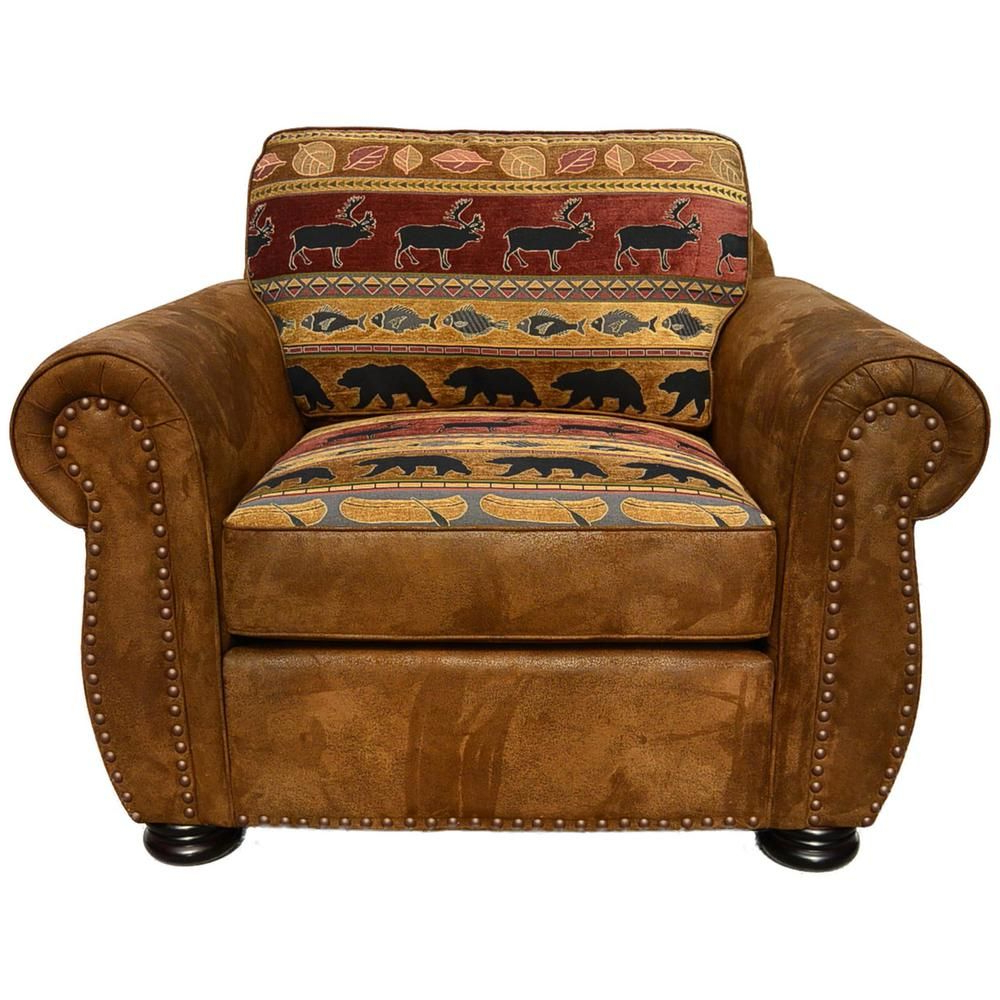 Popular Deer Trail Armchairs For Unbranded Hunter Transitional Arm Chair In Wildlife Pattern (View 7 of 20)