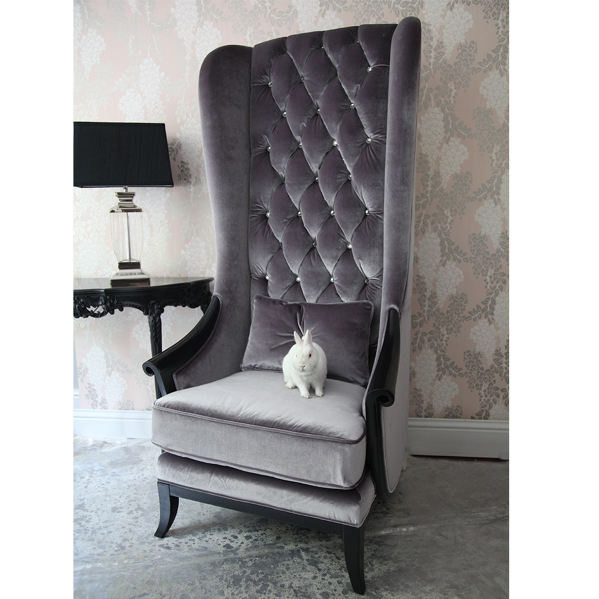 Popular Saige Wingback Chairs Intended For Lolita Tall Wing Chair – Vozeli (View 16 of 20)