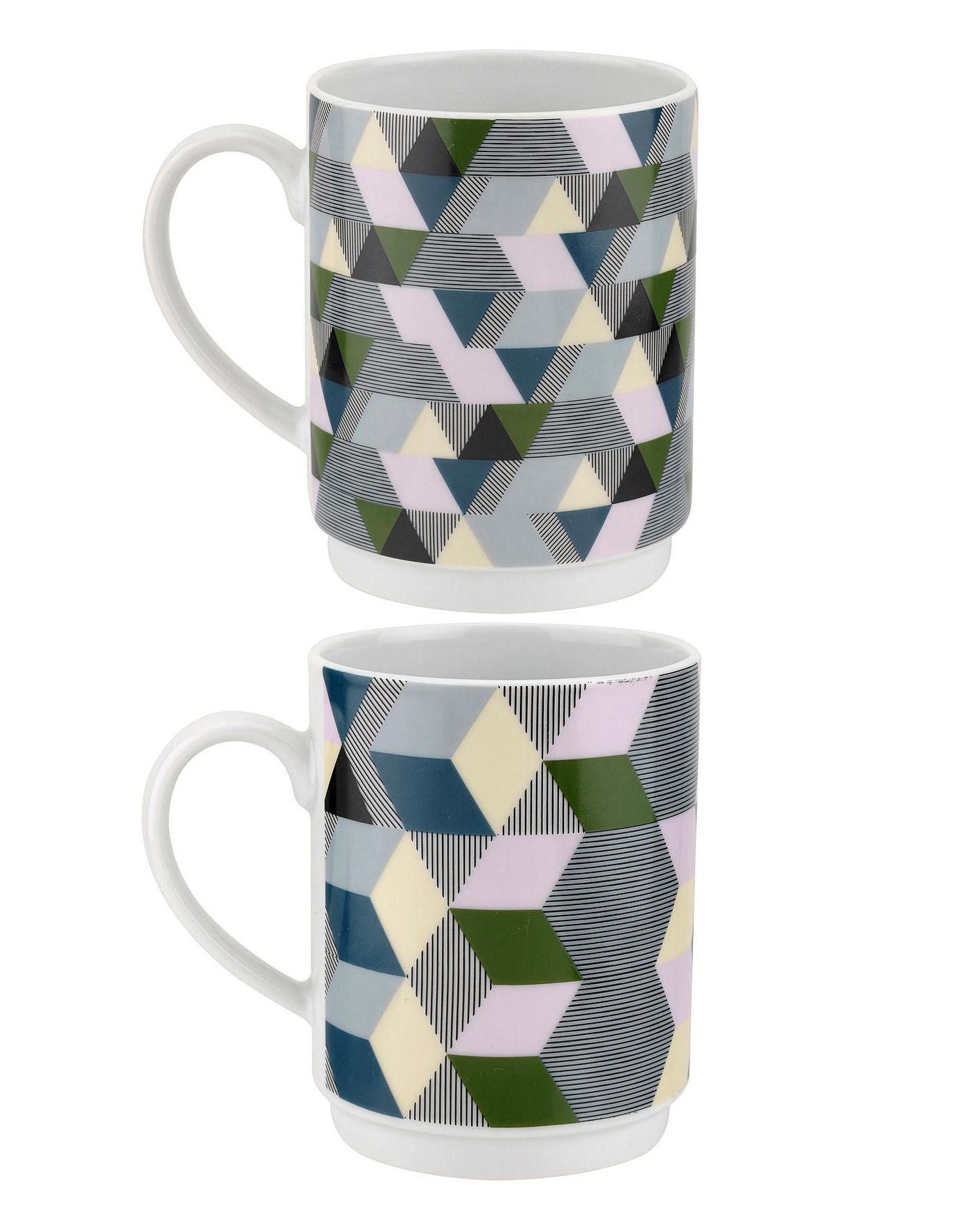 Portmeirion Geometrics Stacking Mugs Intended For 2020 Portmeirion Armchairs (View 12 of 20)