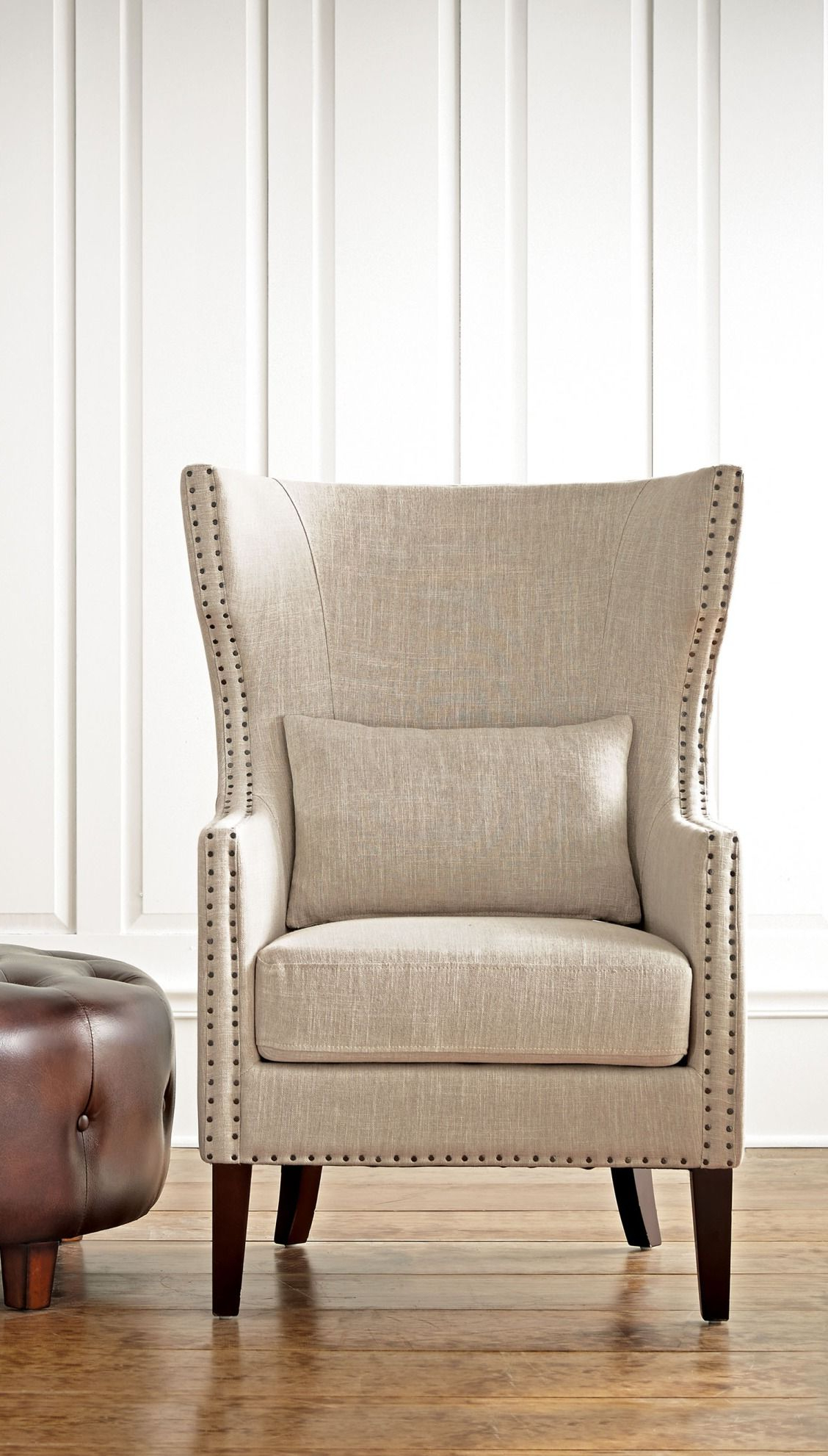 Preferred A Wingback Armchair That Really Makes A Statement, Yet Isn't In Busti Wingback Chairs (View 5 of 20)