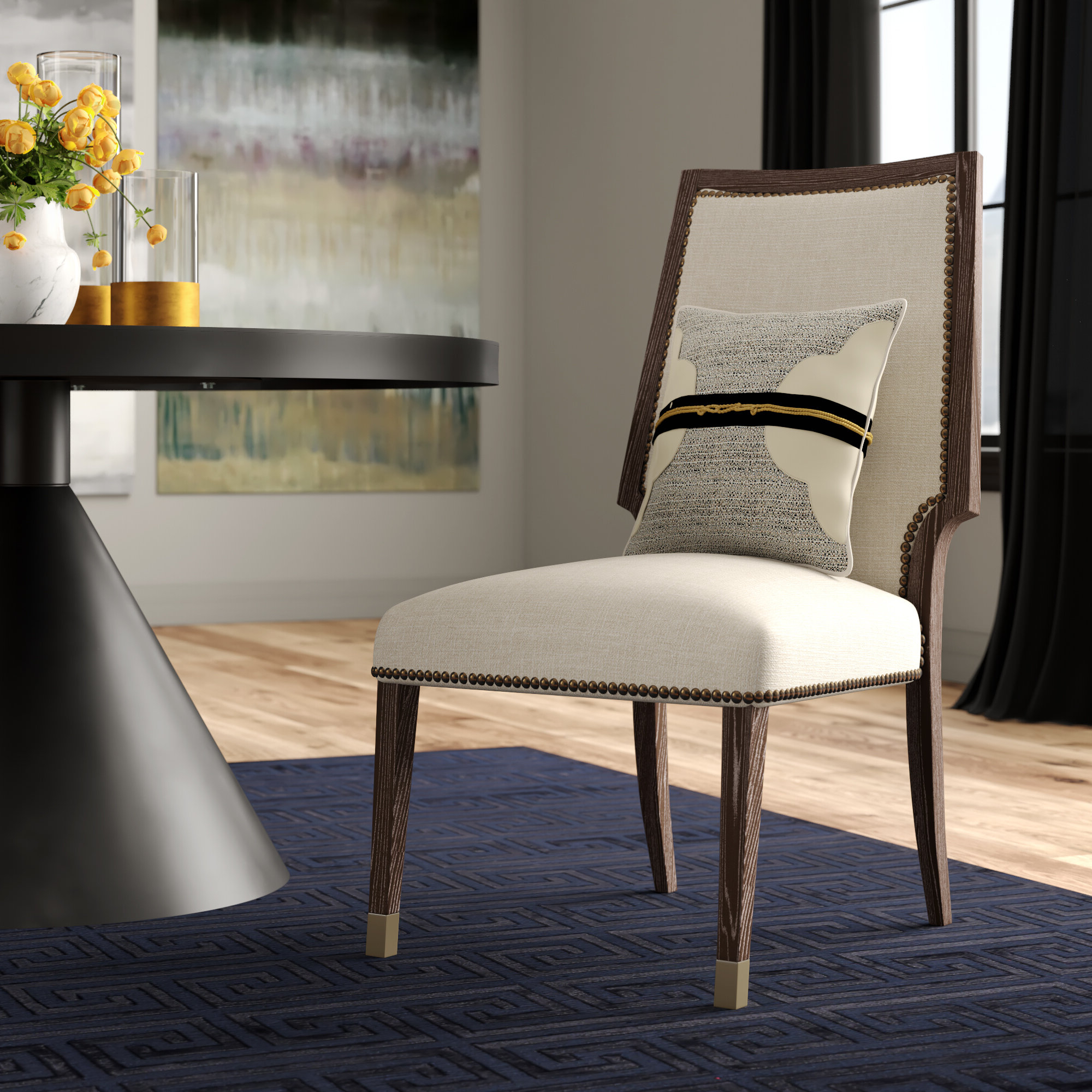 Preferred Aaliyah Parsons Chairs Within Clarendon Upholstered Dining Chair In Oatmeal (View 12 of 20)