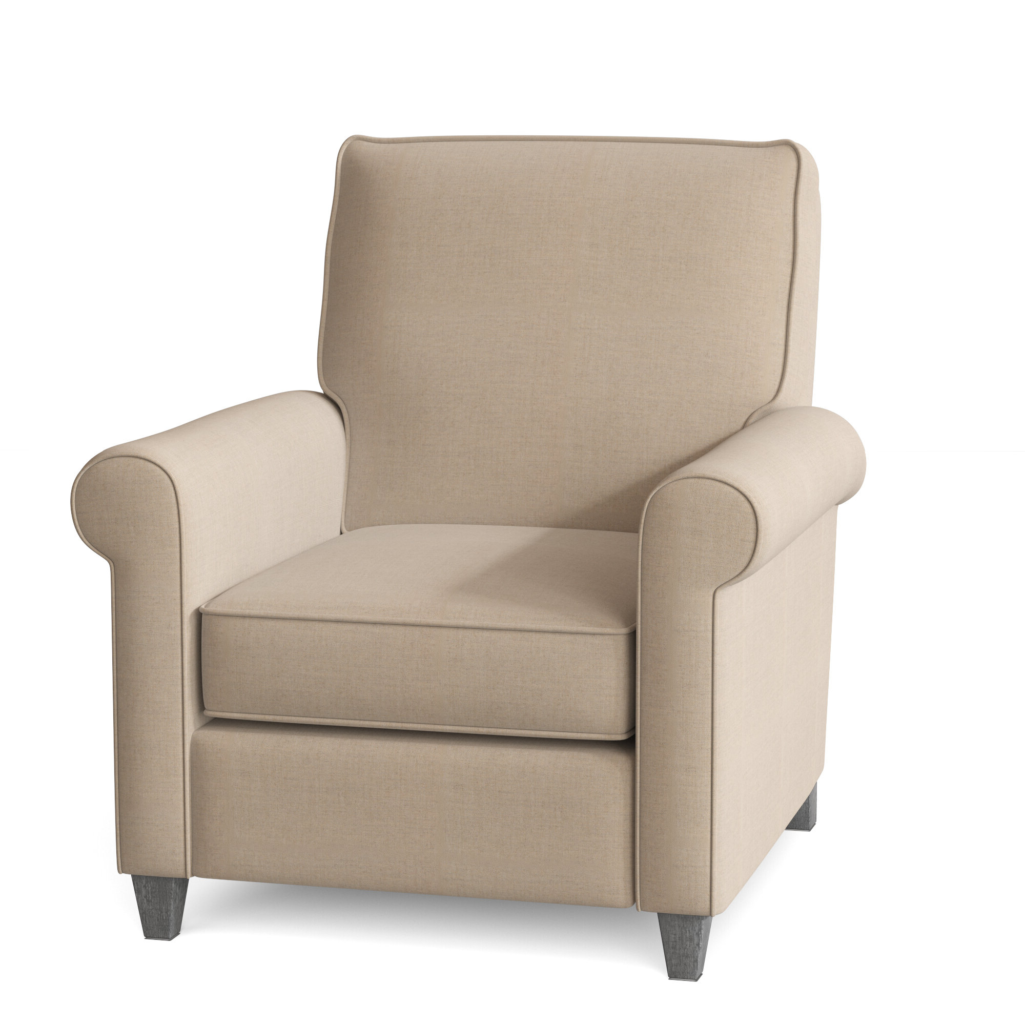 Preferred Acton Manual Recliner Inside Ronald Polyester Blend Armchairs (View 14 of 20)