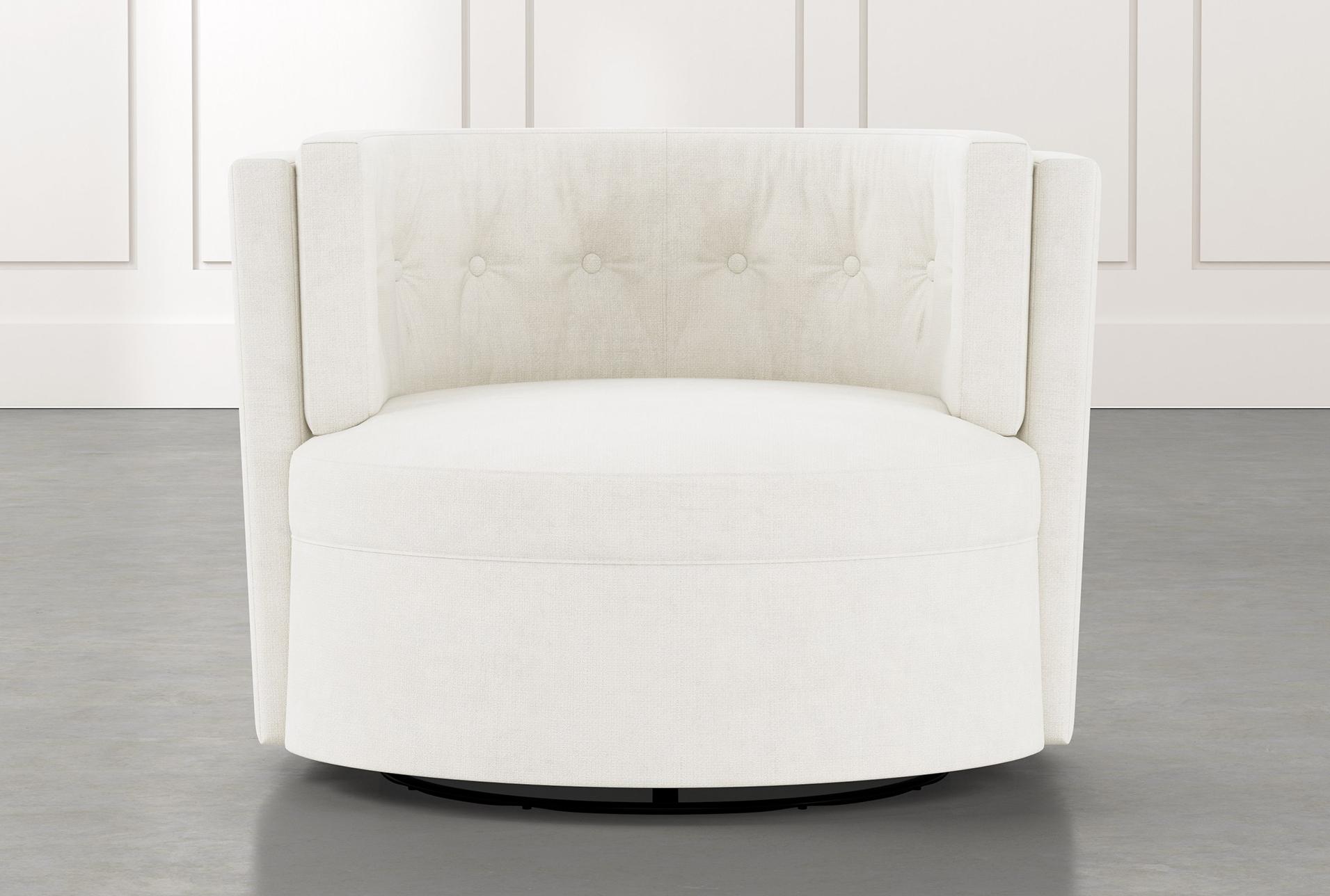 Preferred Aidan Ii White Swivel Accent Chair (View 6 of 20)