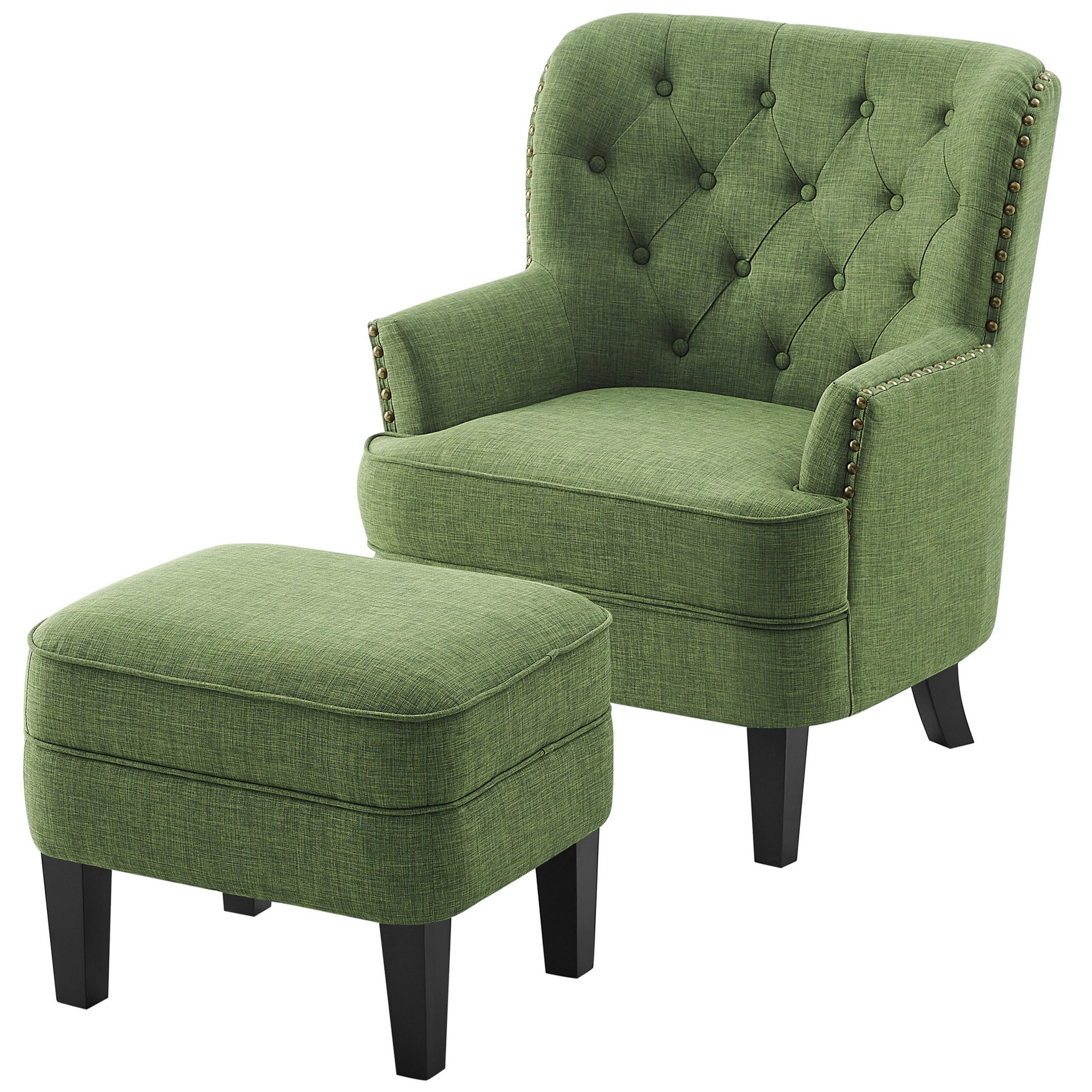 Preferred Annegret Faux Leather Barrel Chair And Ottoman Sets With Chaithra (View 5 of 20)