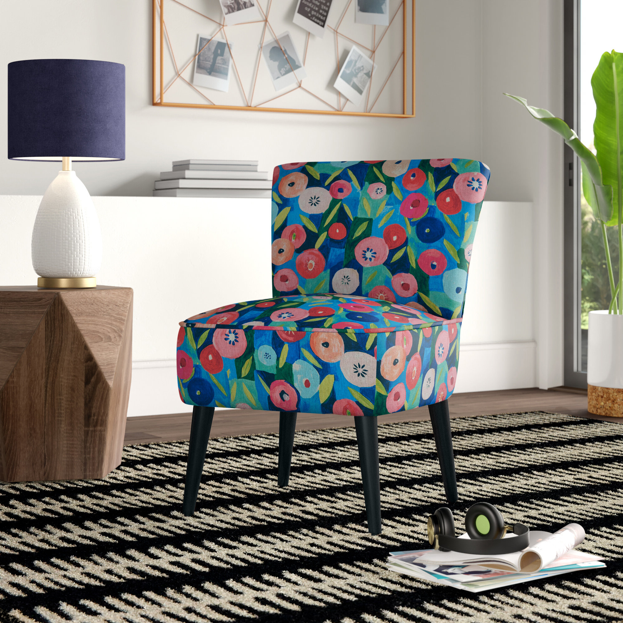 Preferred Ansby Barrel Chairs Within Floral Accent Chairs Under $150 You'll Love In (View 5 of 20)