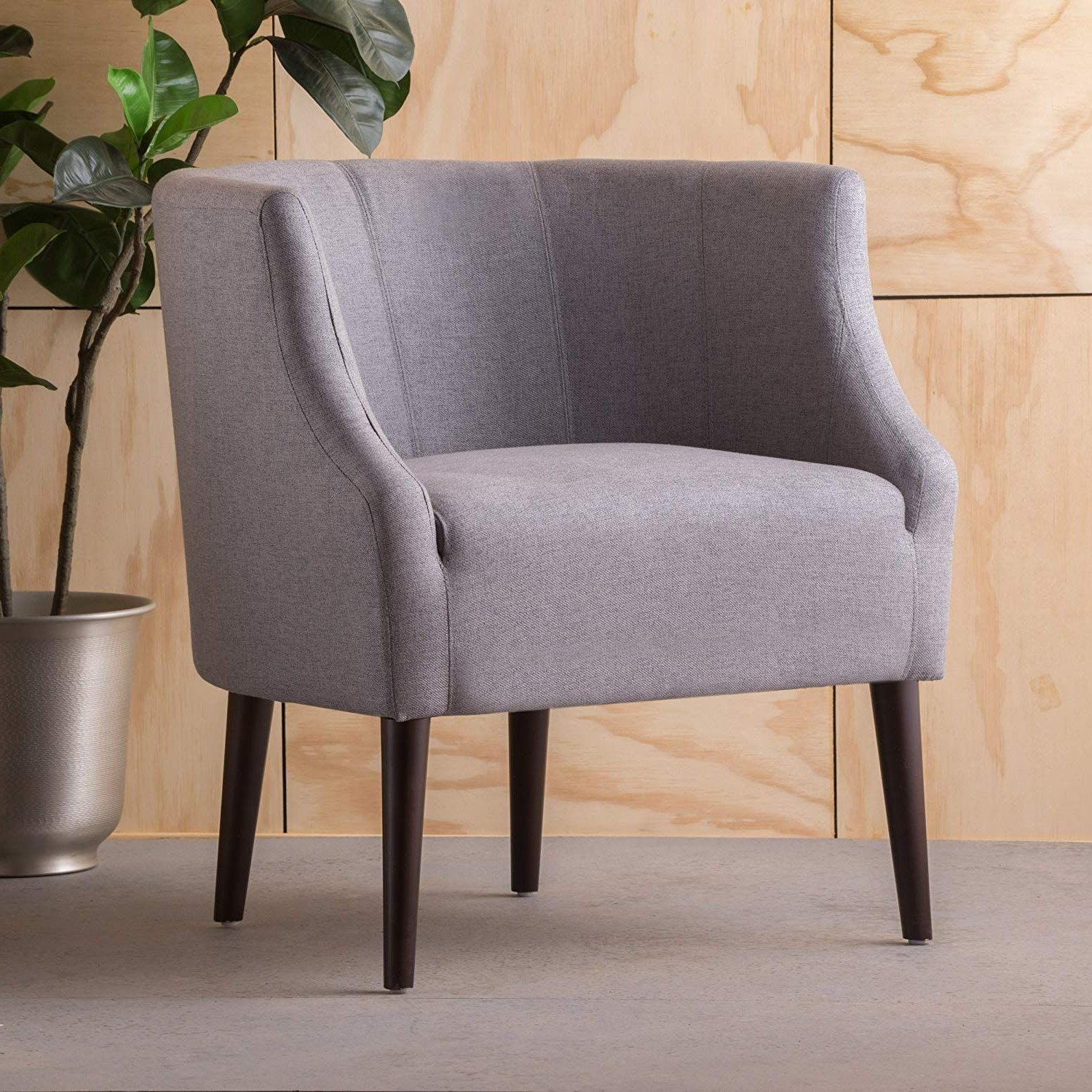 Preferred Christopher Knight Home 300285 Sonnet Arm Chair, Grey In Pertaining To Hanner Polyester Armchairs (View 16 of 20)