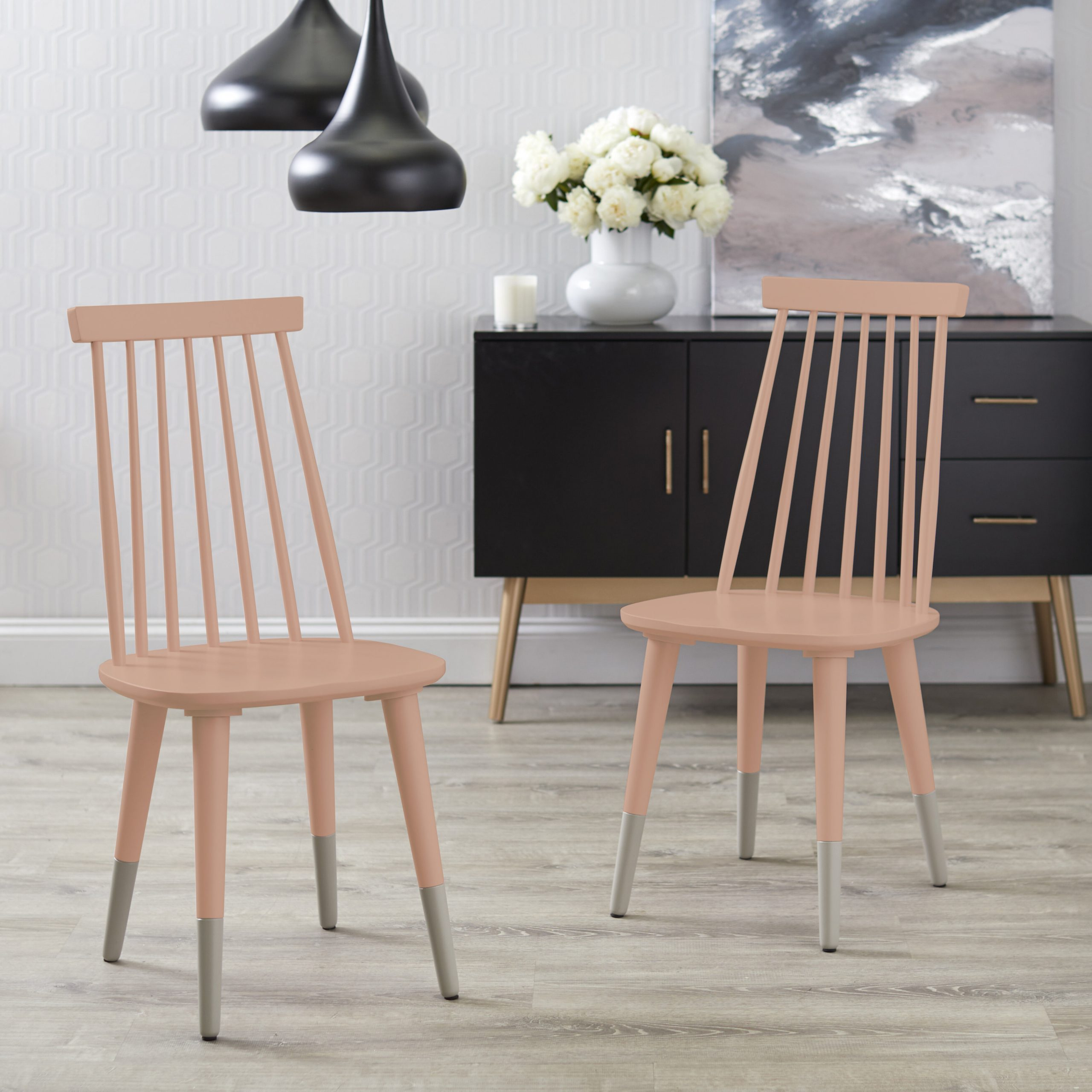 Preferred Liston Faux Leather Barrel Chairs With Regard To Beckner Solid Wood Windsor Back Side Chair (View 16 of 20)