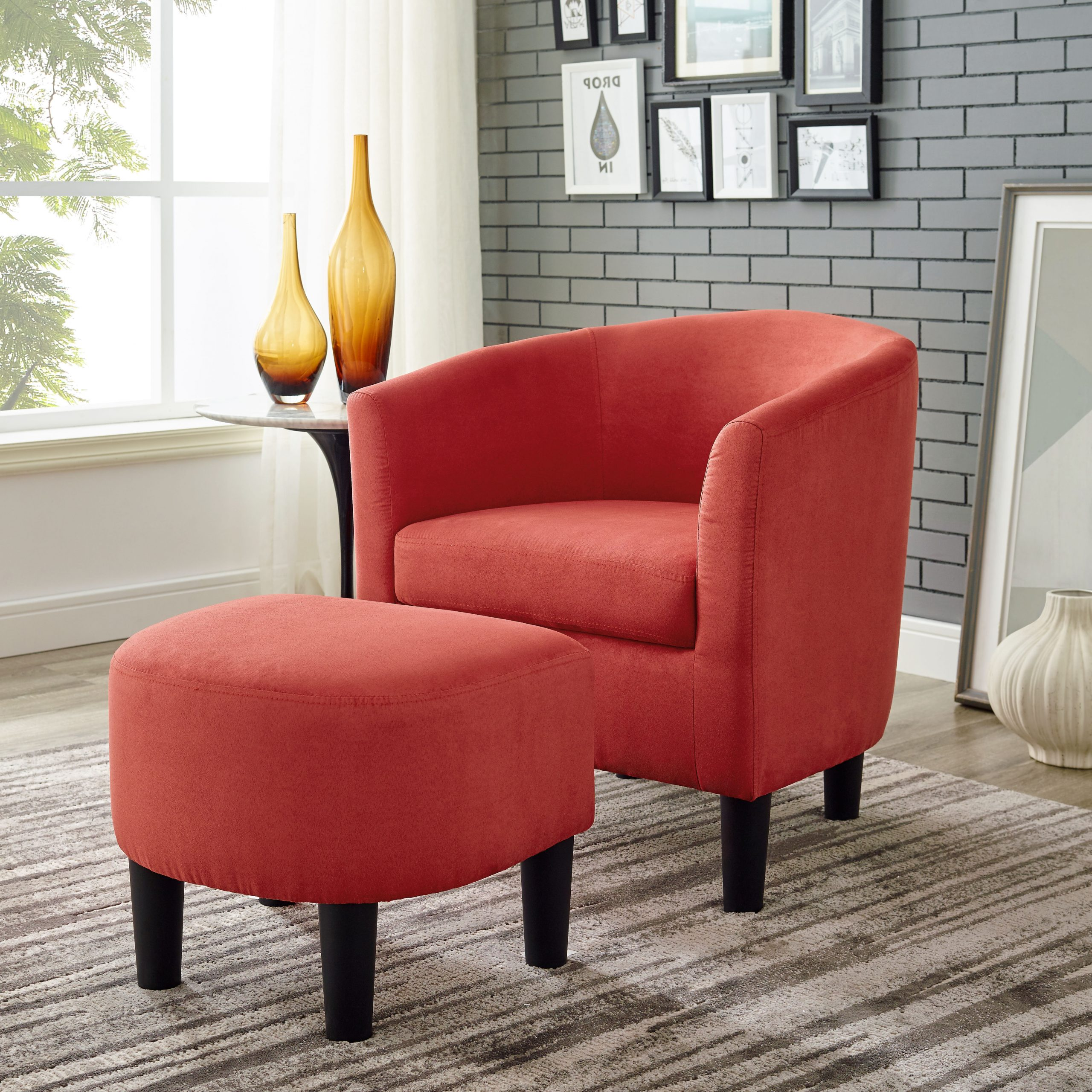 Preferred Orange & White Accent Chairs You'll Love In (View 5 of 20)