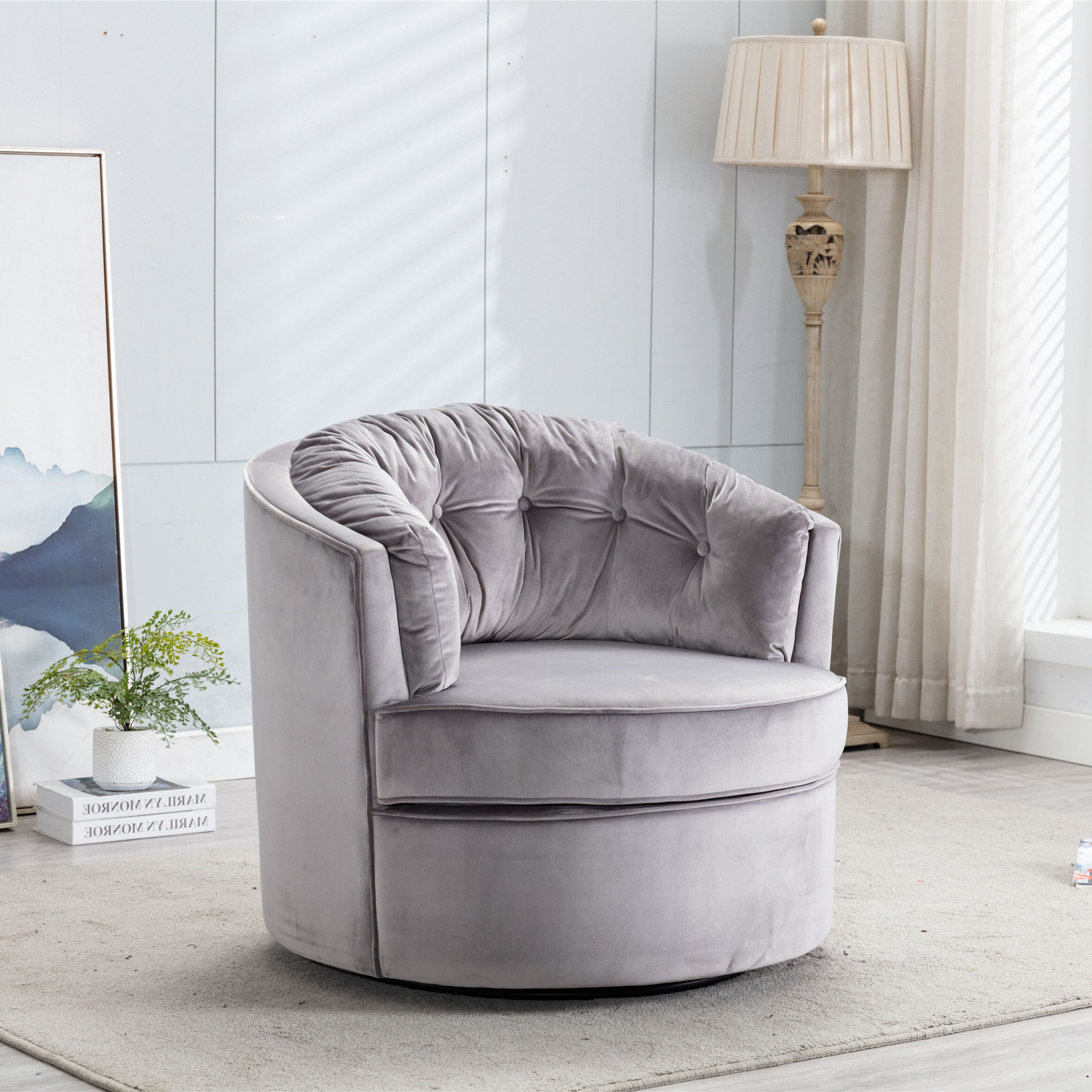 Preferred Riverside Drive Barrel Chair And Ottoman Sets Throughout Iram (View 11 of 20)
