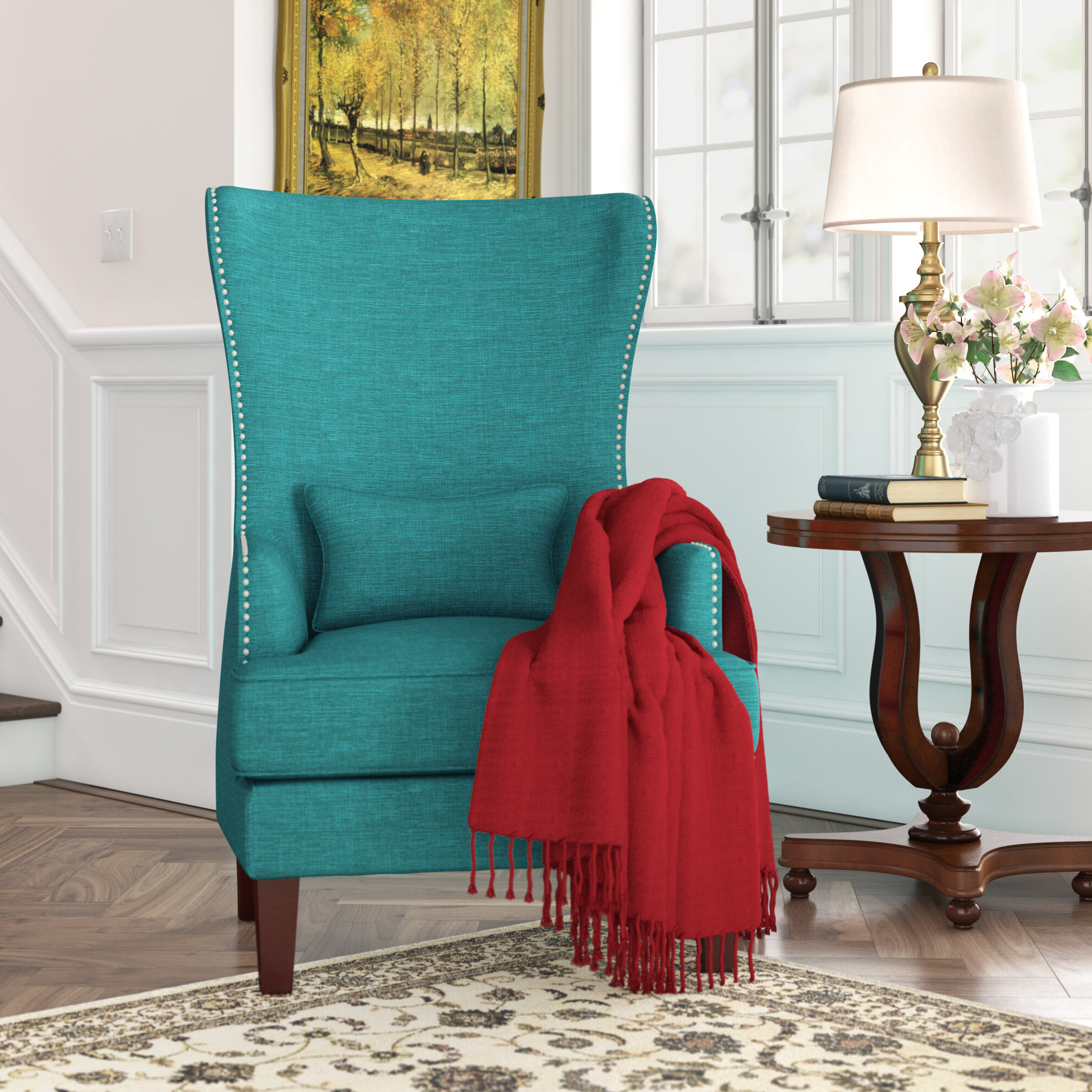 Pringle Wingback Chair With Trendy Allis Tufted Polyester Blend Wingback Chairs (View 17 of 20)