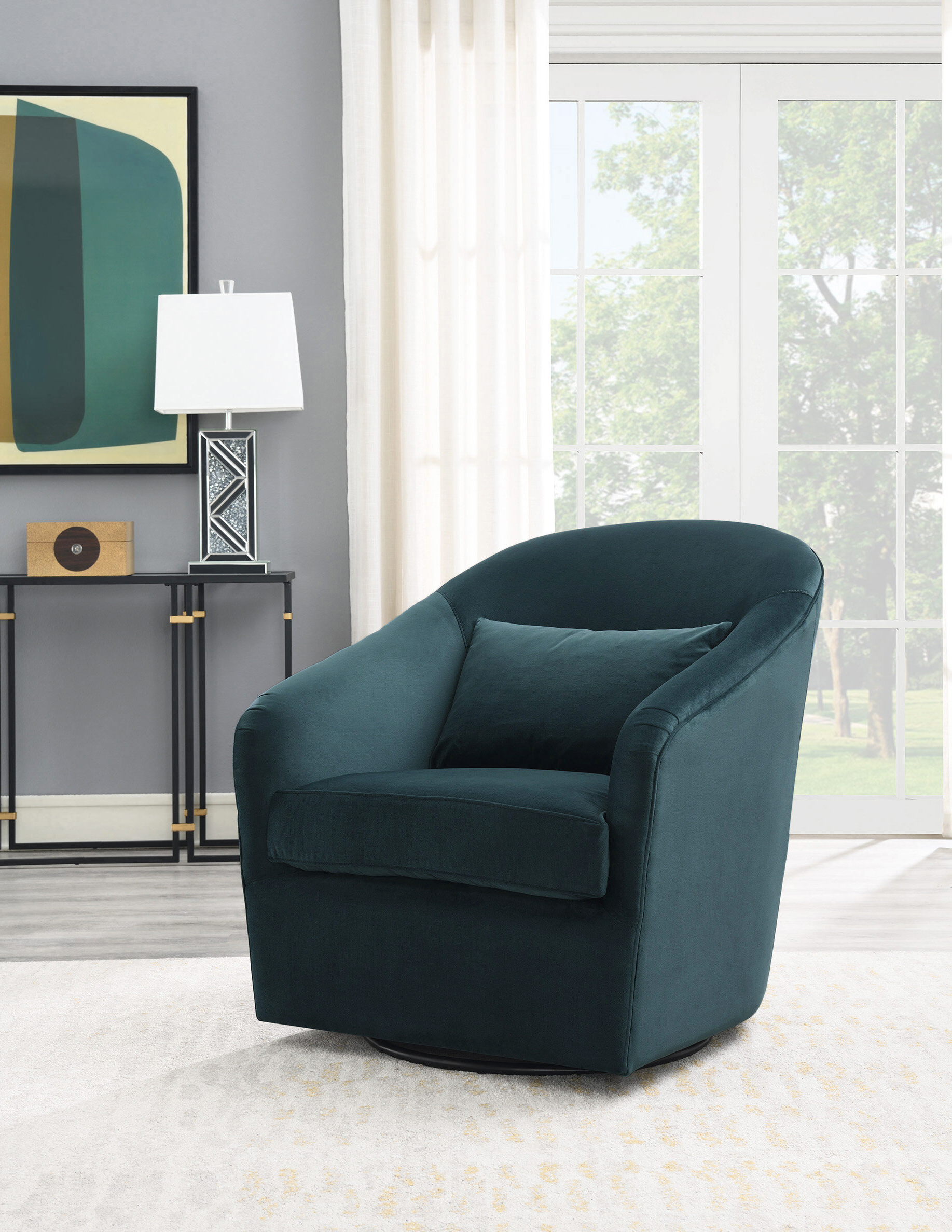 Recent Arlea High Back Swivel Barrel Chair With Regard To Danow Polyester Barrel Chairs (View 16 of 20)