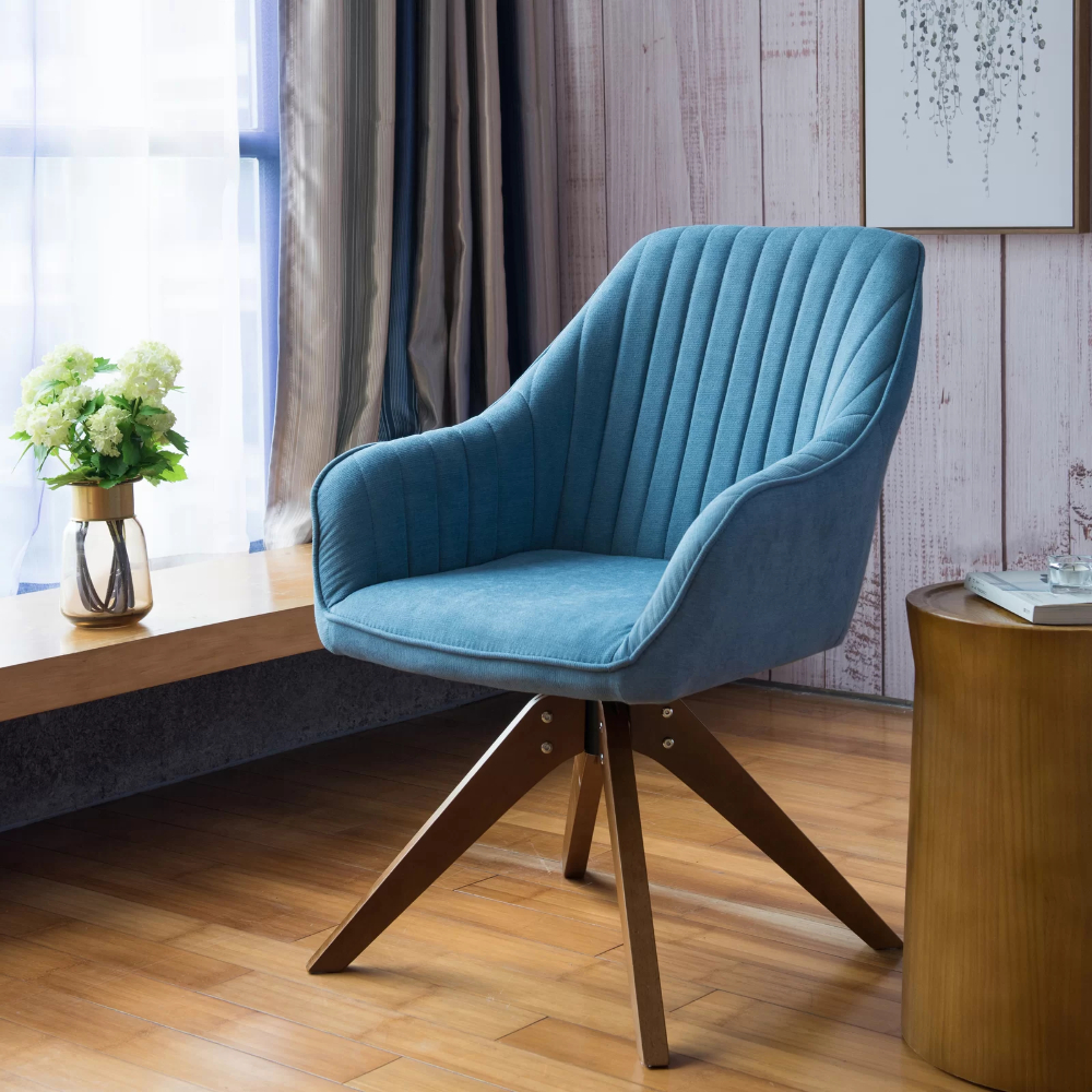 Recent Brister Swivel Side Chair In (View 4 of 20)