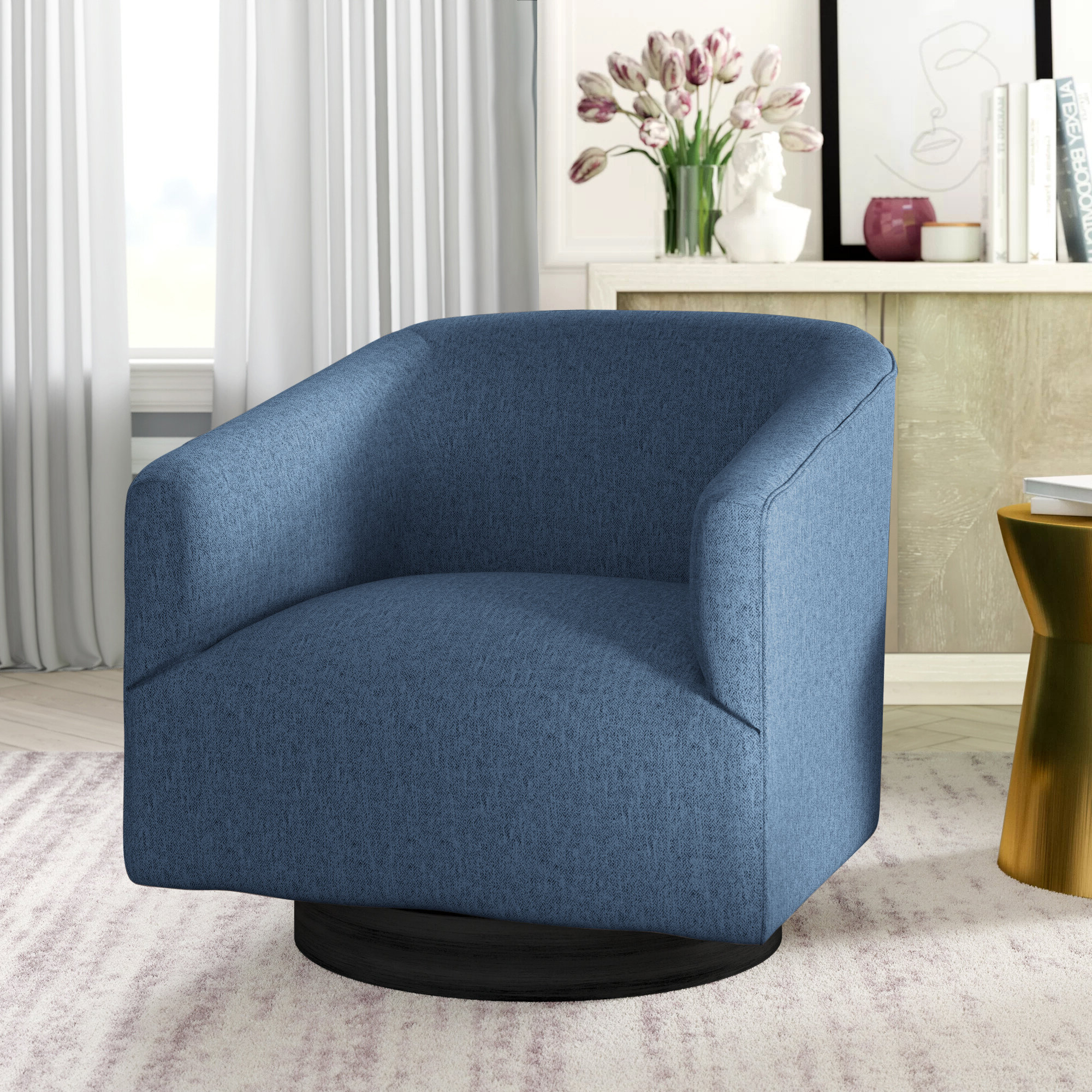Recent Clarkson Swivel Barrel Chair With Regard To Danow Polyester Barrel Chairs (View 18 of 20)