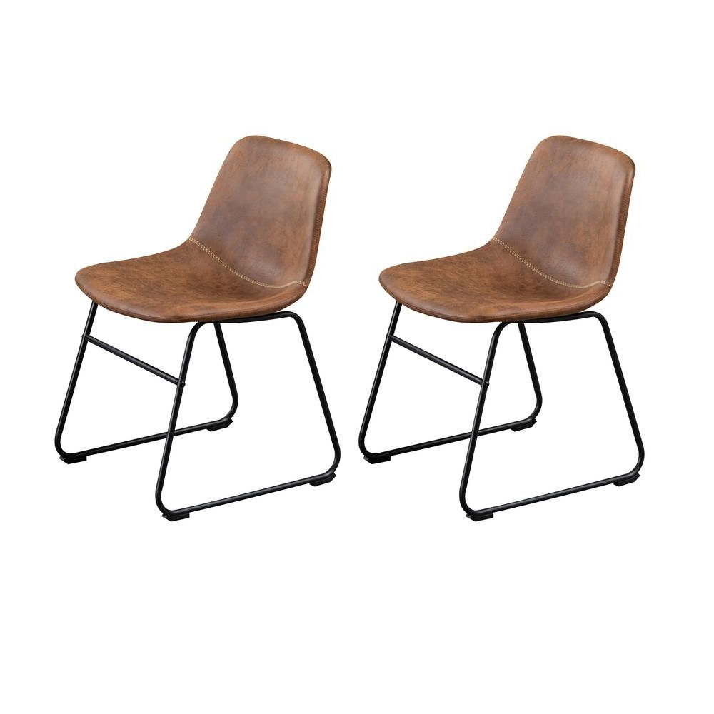 Recent Esmund Side Chairs (set Of 2) Regarding Home Beyond Colmar Brown Dining Side Chair (set Of 2) Uc (View 4 of 20)