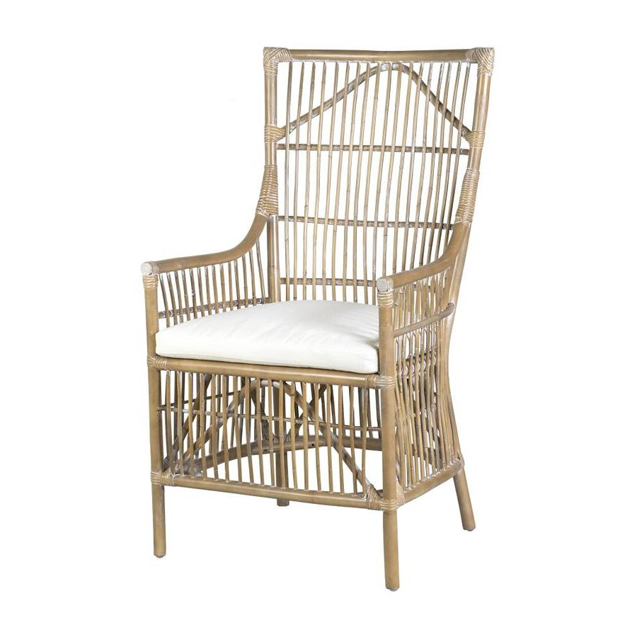 Recent Leia Polyester Armchairs Inside East At Main Casual Polyester/polyester Blend Dining Arm Chair (rattan Frame) (View 11 of 20)