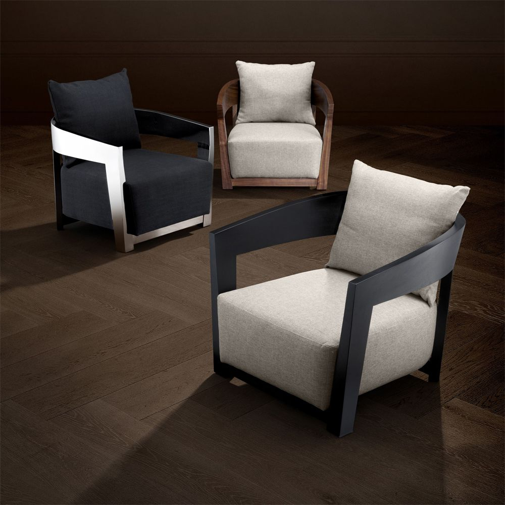 Recent Leia Polyester Armchairs Inside Eichholtz Rubautelli Armchair – Black (no Longer Fire Retardant) (View 16 of 20)