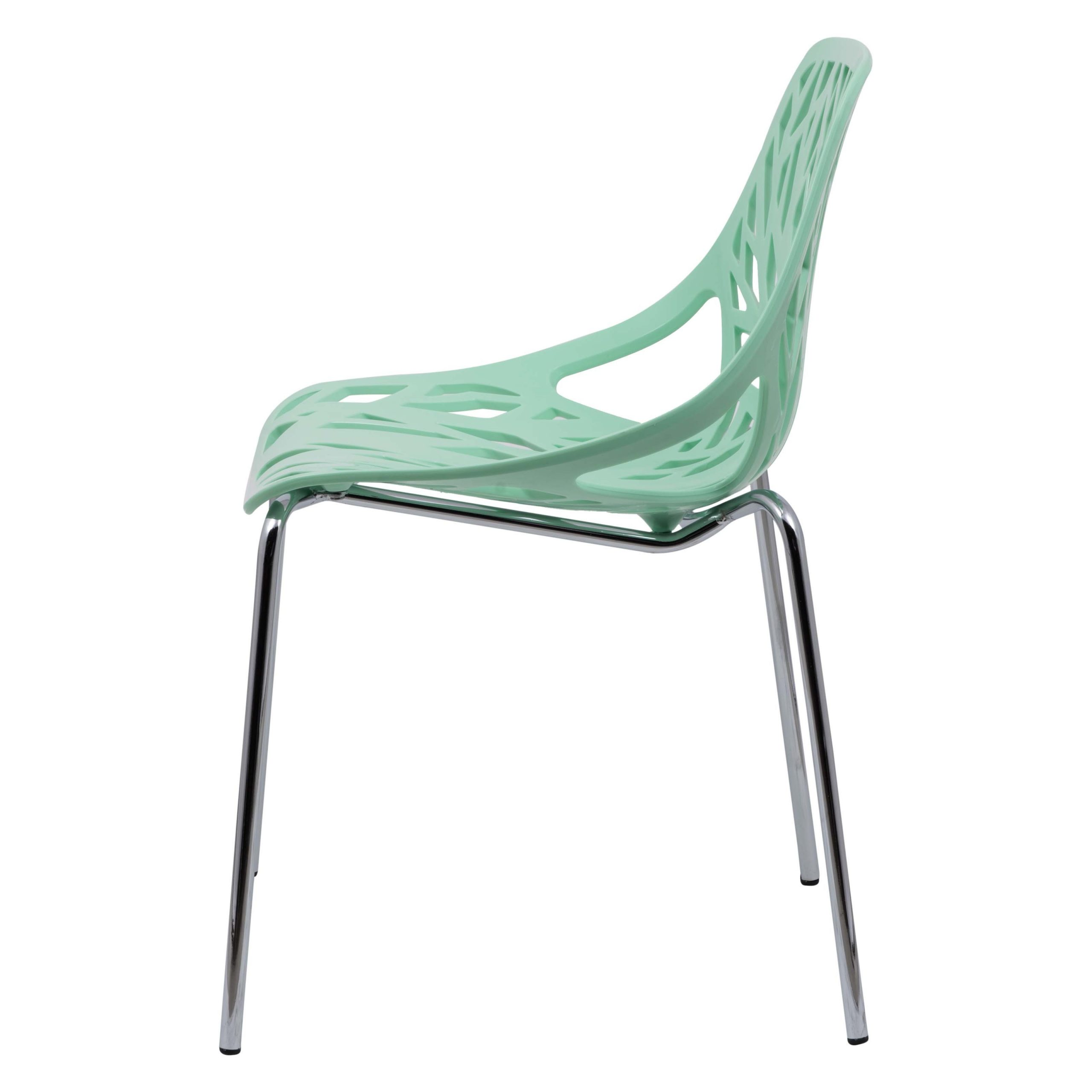 Recent Leisuremod Asbury Mint Open Back Chrome Dining Side Chair In Asbury Club Chairs (View 16 of 20)