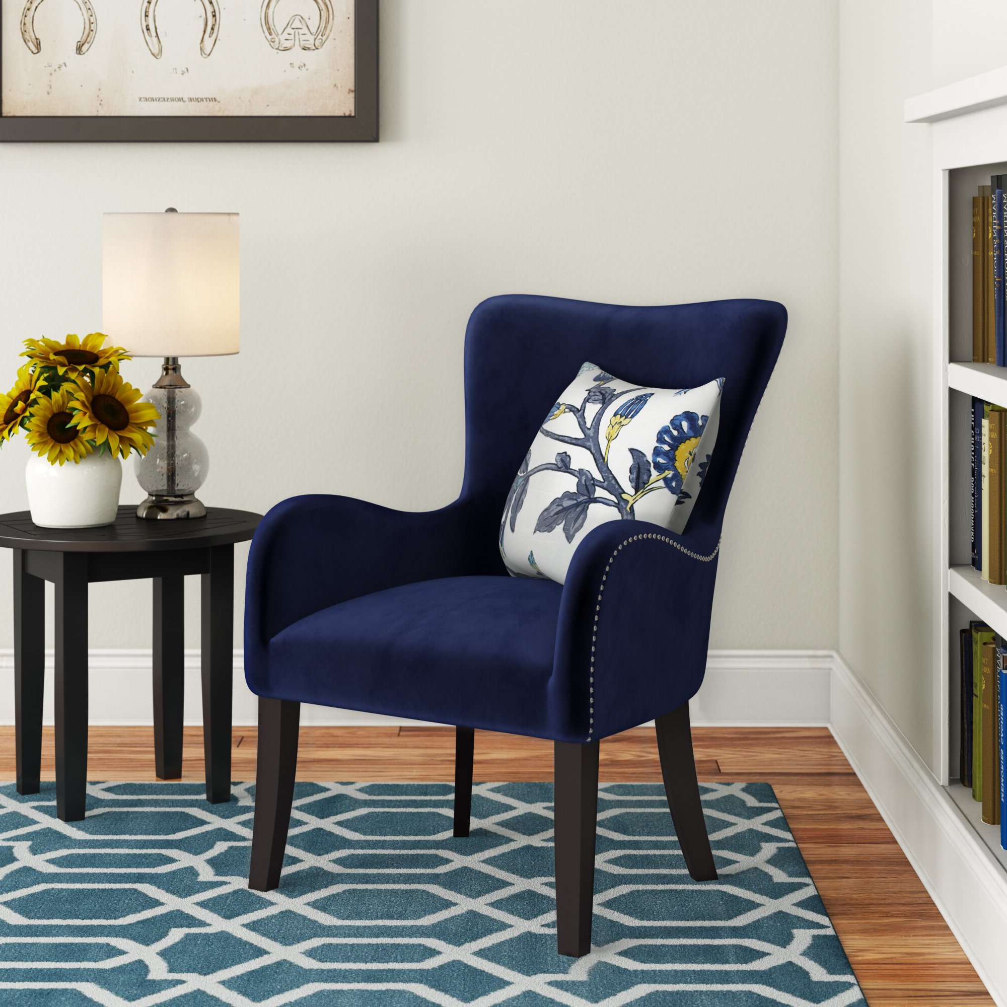 Recent Quesada Wingback Chair Pertaining To Andover Wingback Chairs (View 4 of 20)