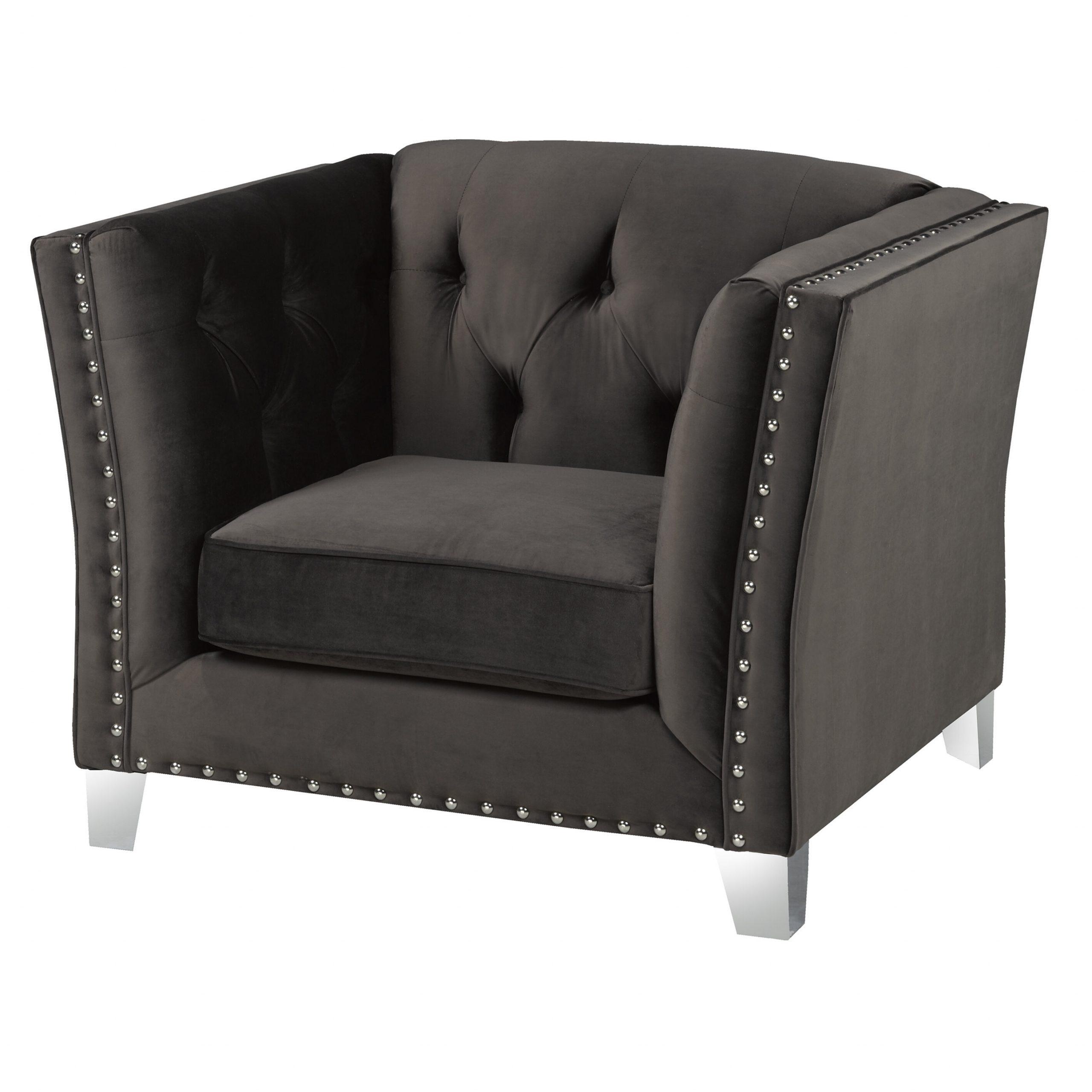 """Recent Shept Mallet 41"""" W Tufted Velvet Armchair Regarding Didonato Tufted Velvet Armchairs (View 9 of 20)"""