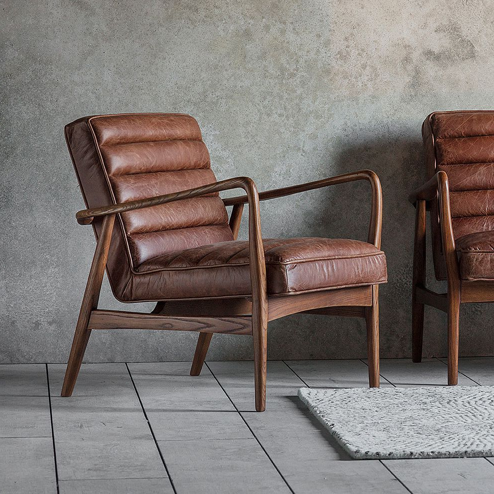 Retro Brown Leather Armchair Leather Furniture In 2020 With Regard To Most Up To Date Caldwell Armchairs (View 10 of 20)