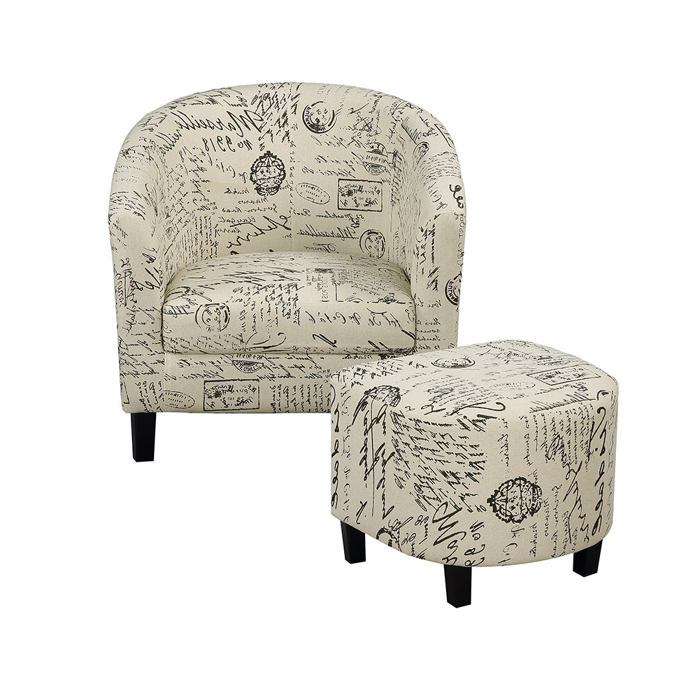 Riverside Drive Barrel Chair And Ottoman Sets Inside Favorite One Allium Way® Savion Retro Living Room Barrel Chair And (View 7 of 20)